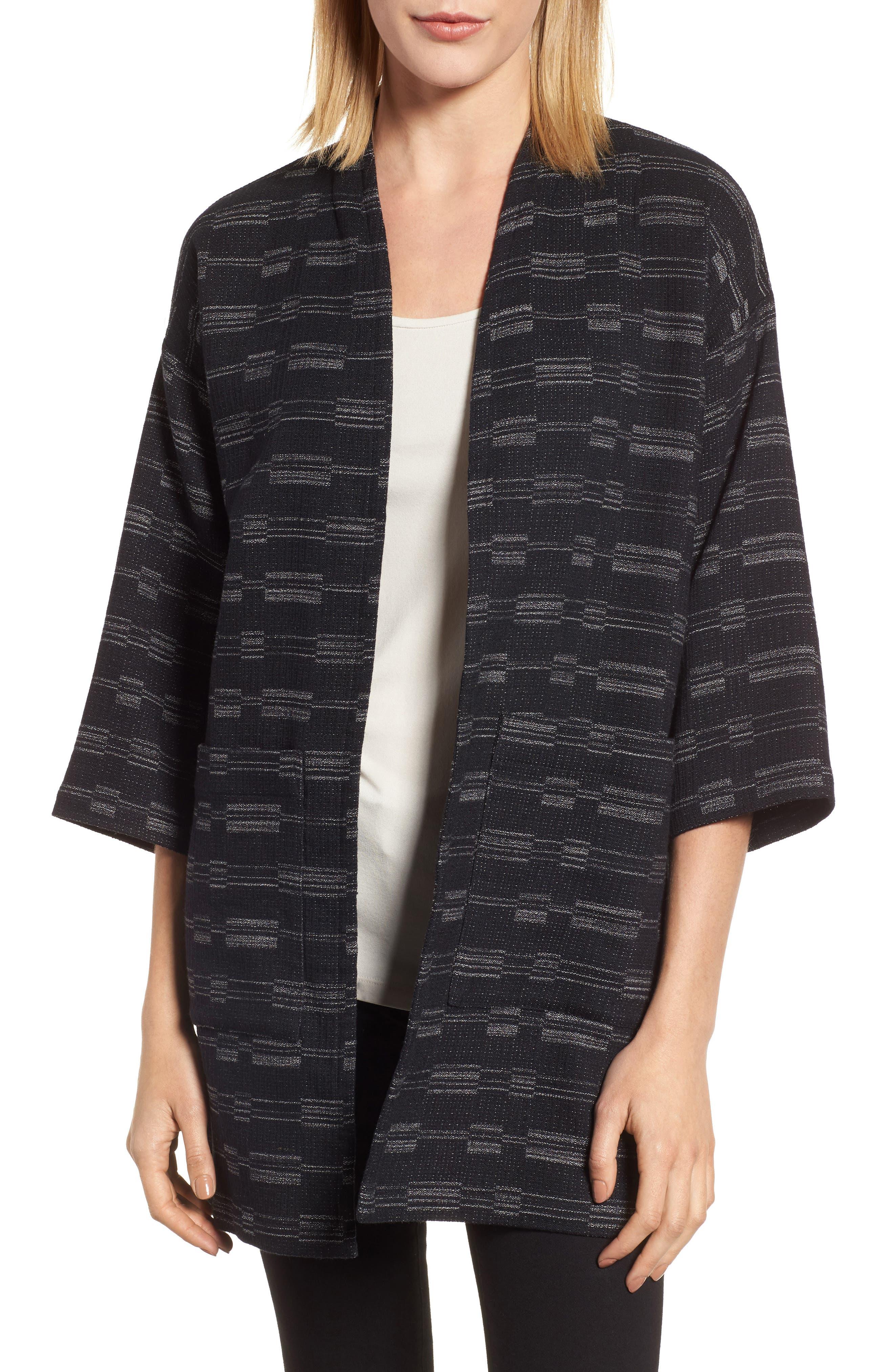 Organic Cotton Blend Tweed Jacket,                             Main thumbnail 1, color,                             001