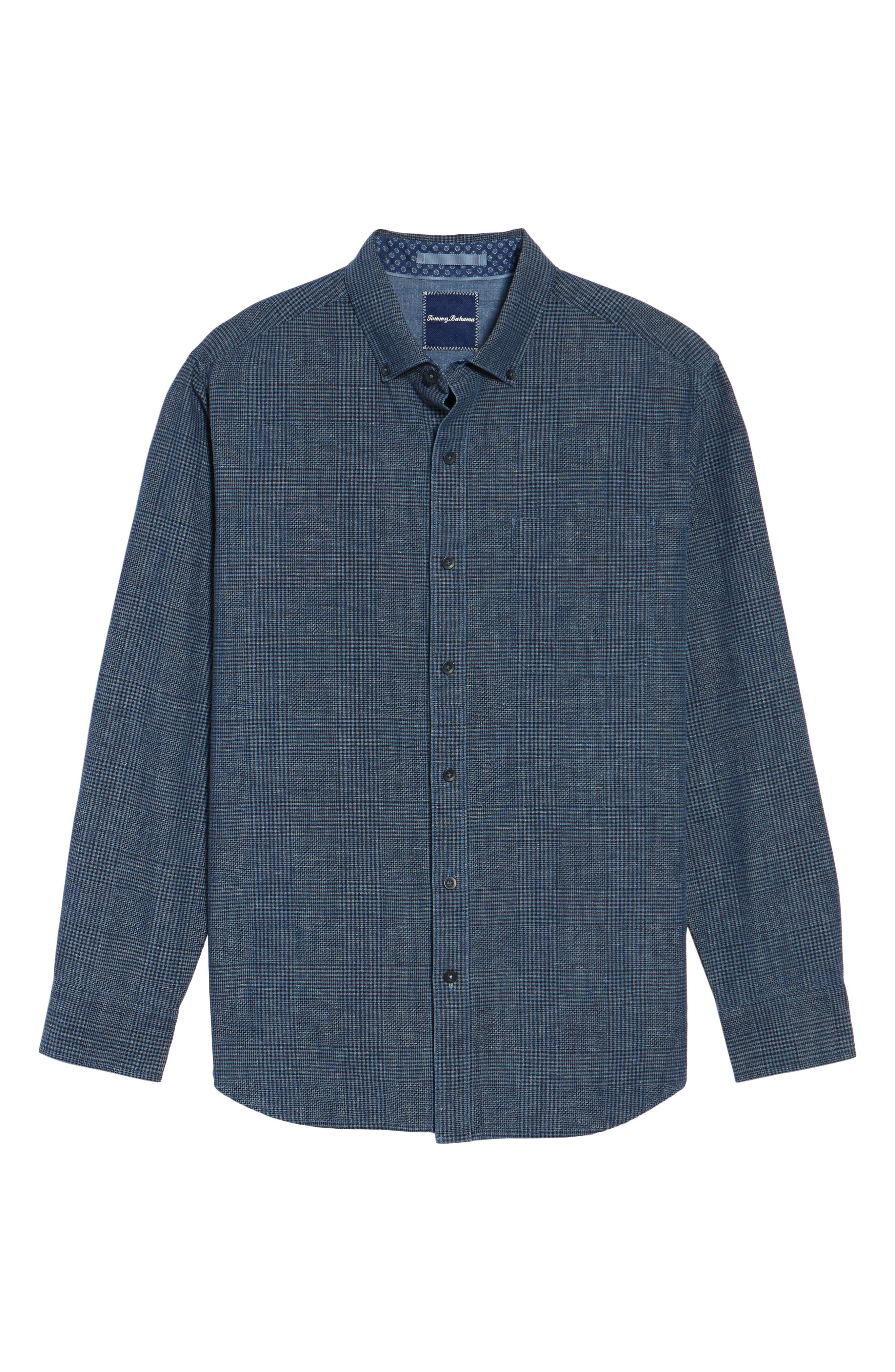 Almeria Standard Fit Plaid Sport Shirt,                             Alternate thumbnail 6, color,