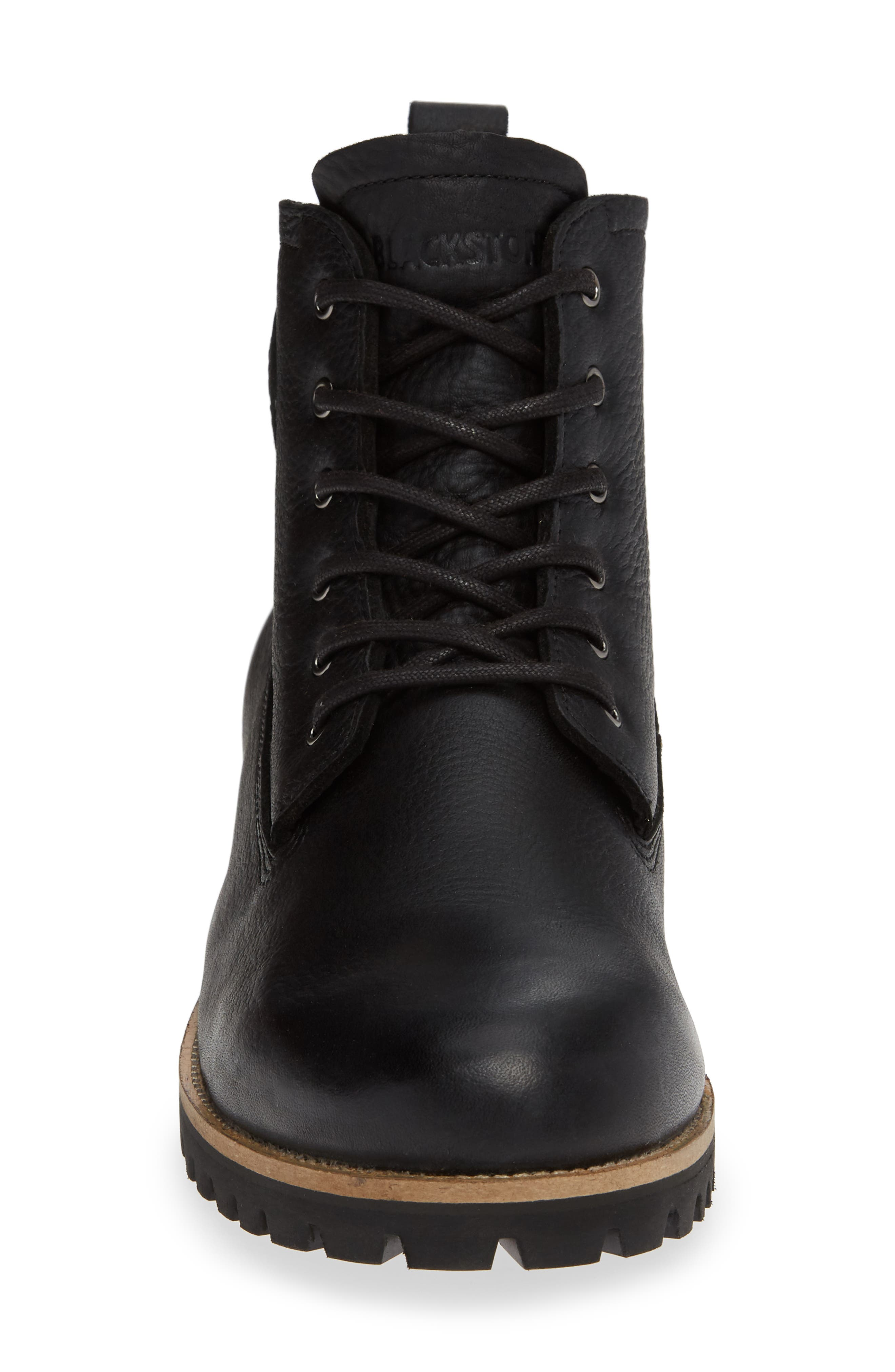 OM60 Waterproof Genuine Shearling Boot,                             Alternate thumbnail 4, color,                             BLACK