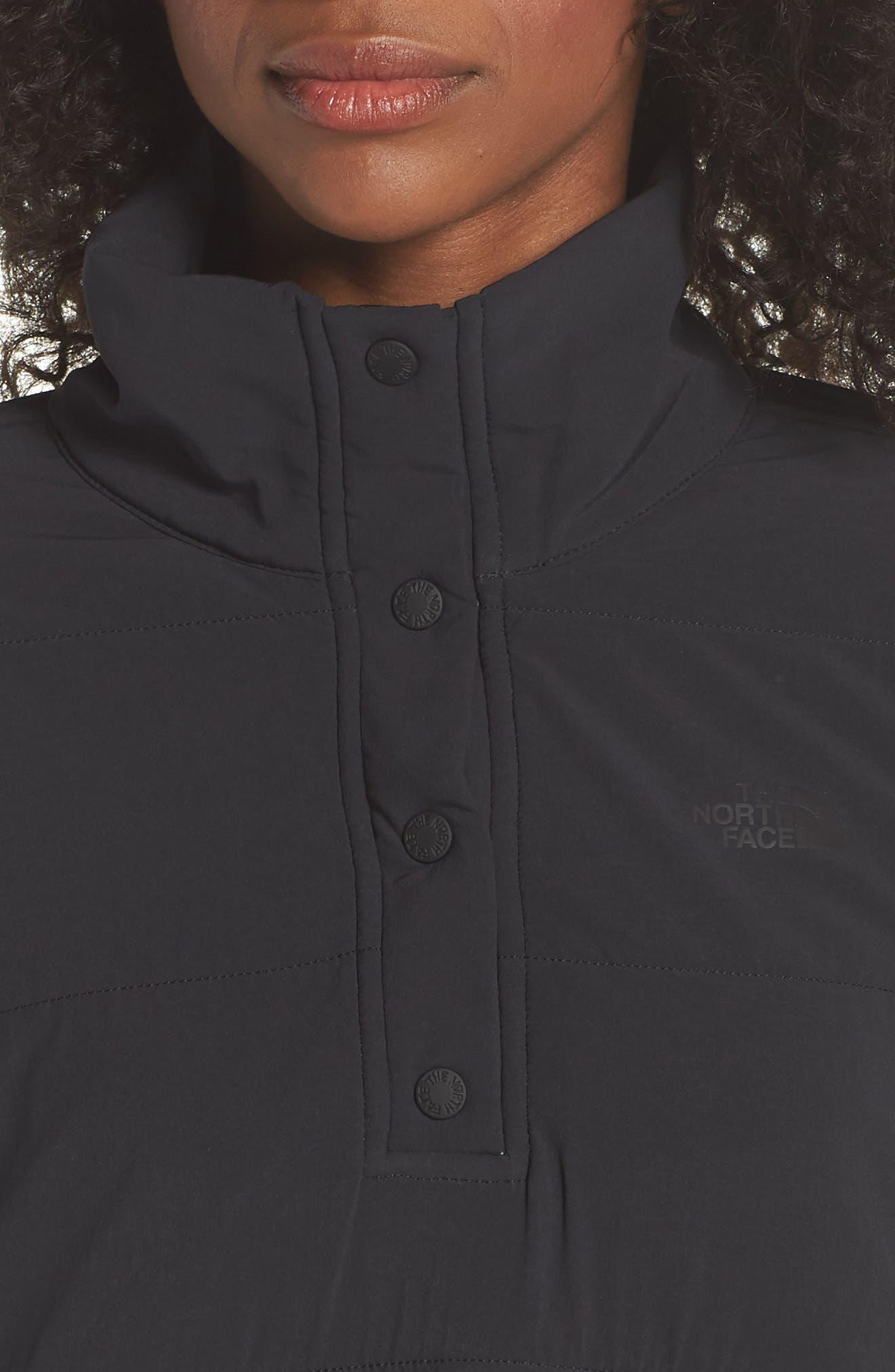Mountain Snap Neck Sweatshirt,                             Alternate thumbnail 4, color,                             001