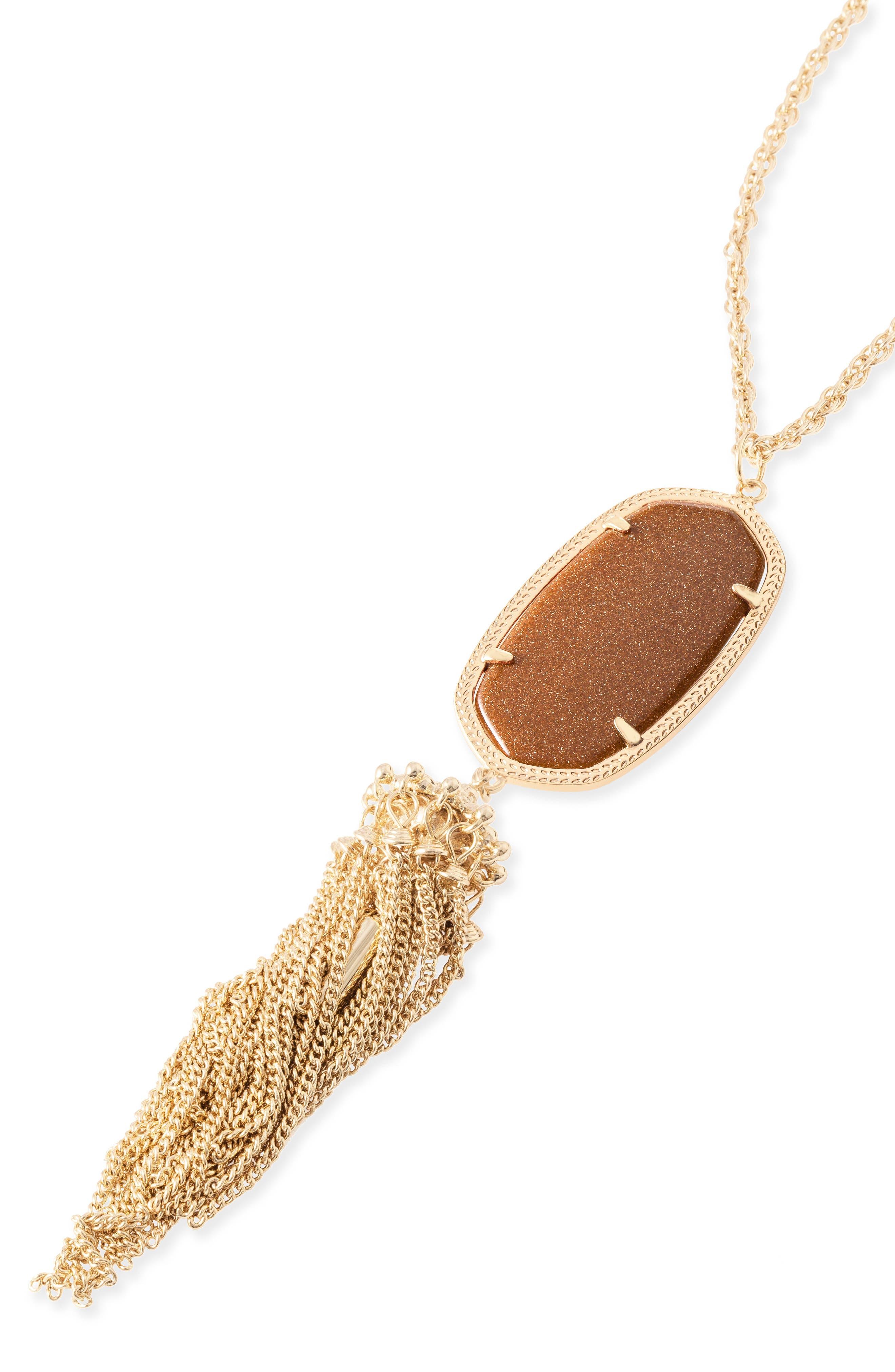 Rayne Stone Tassel Pendant Necklace,                             Alternate thumbnail 253, color,