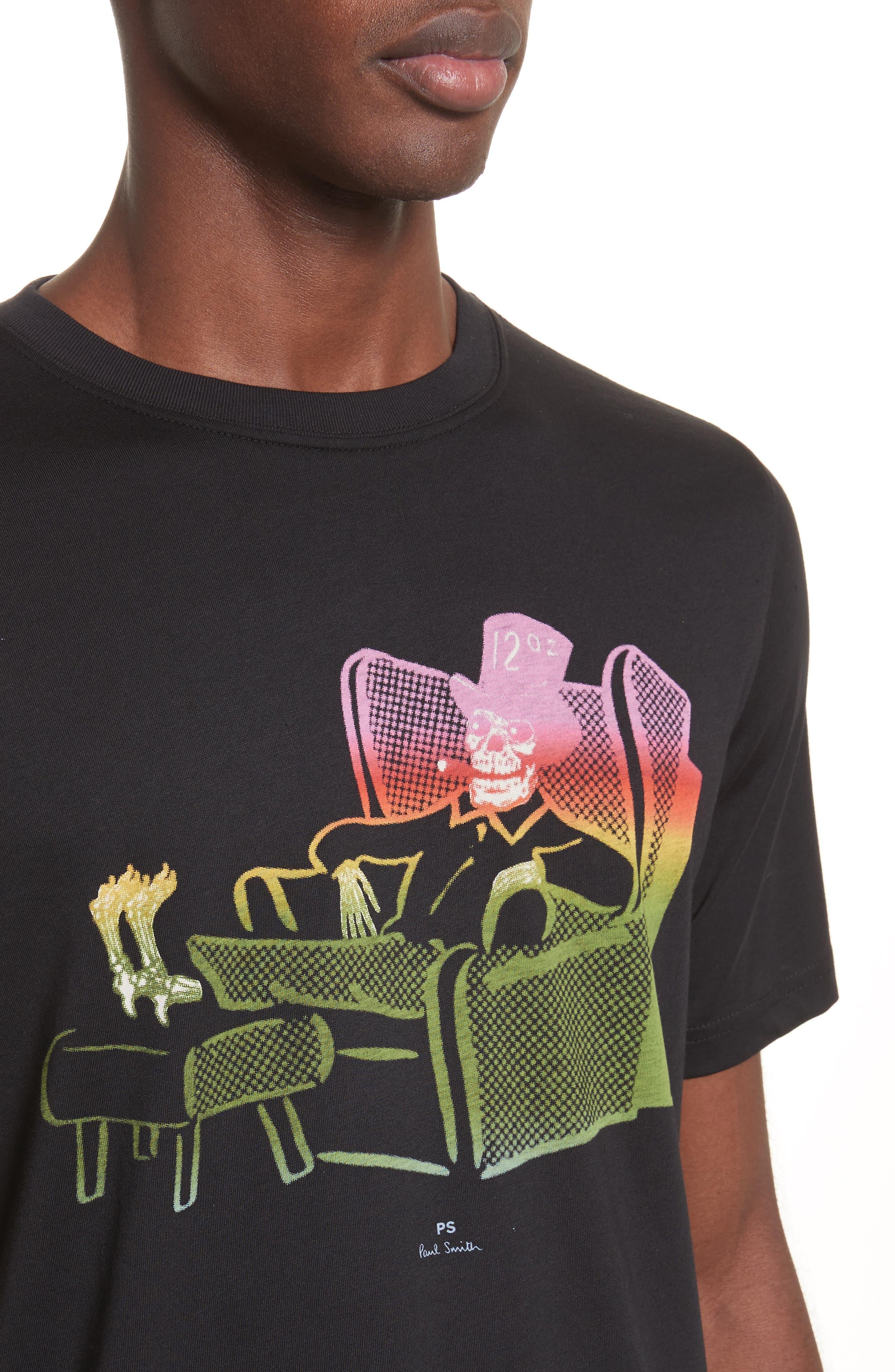 12oz Skeleton Graphic T-Shirt,                             Alternate thumbnail 4, color,                             001