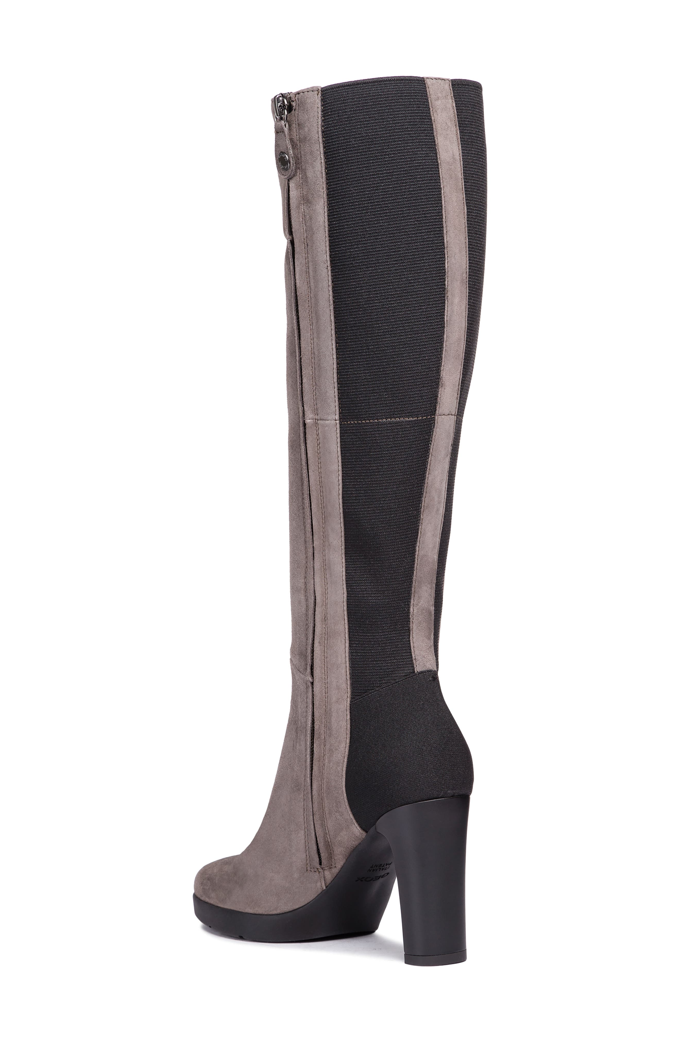 GEOX,                             Annya Knee High Boot,                             Alternate thumbnail 2, color,                             CHESTNUT SUEDE