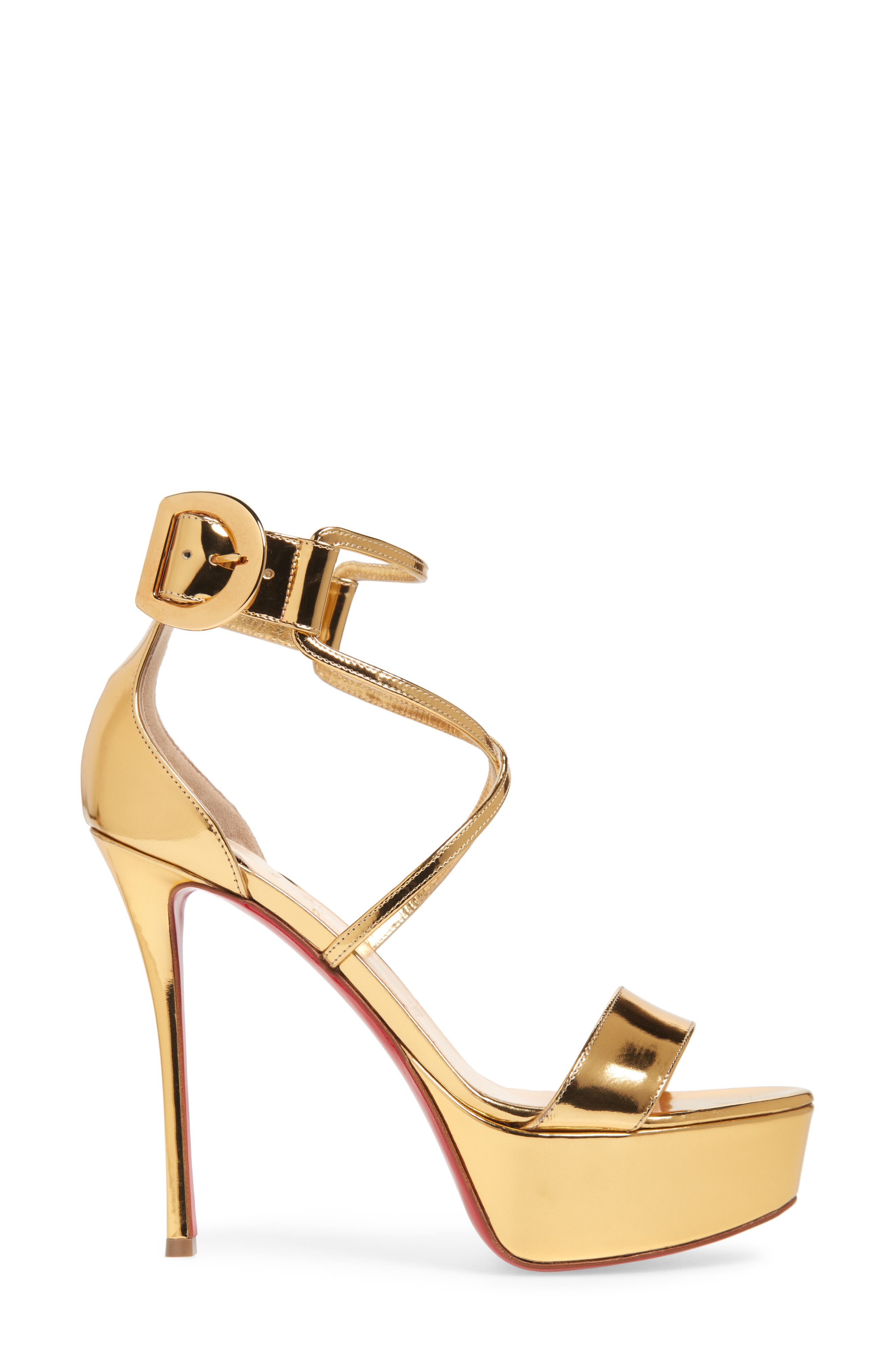 Choca Platform Sandal,                             Alternate thumbnail 3, color,                             GOLD