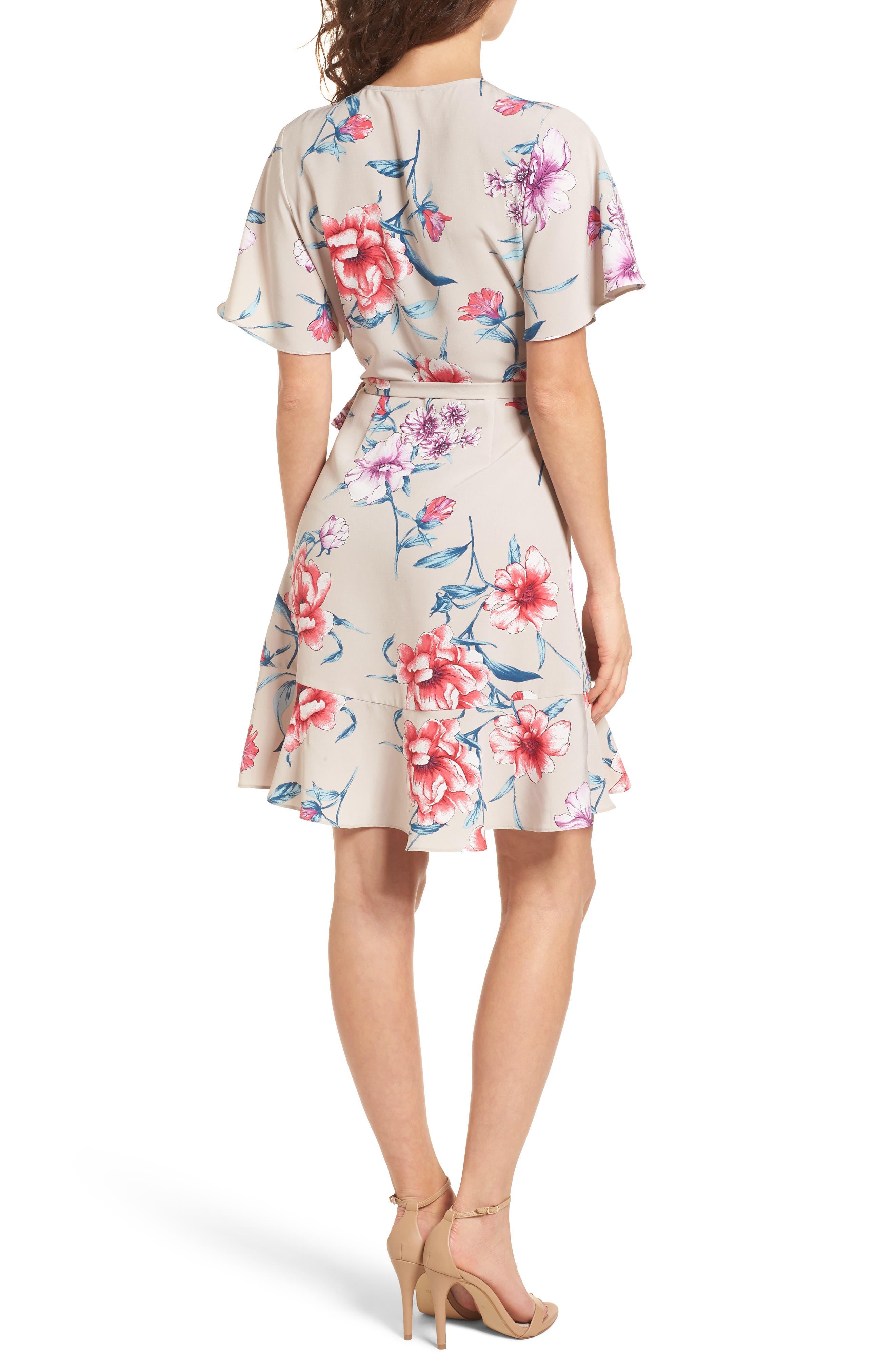 Lucy Floral Wrap Dress,                             Alternate thumbnail 6, color,