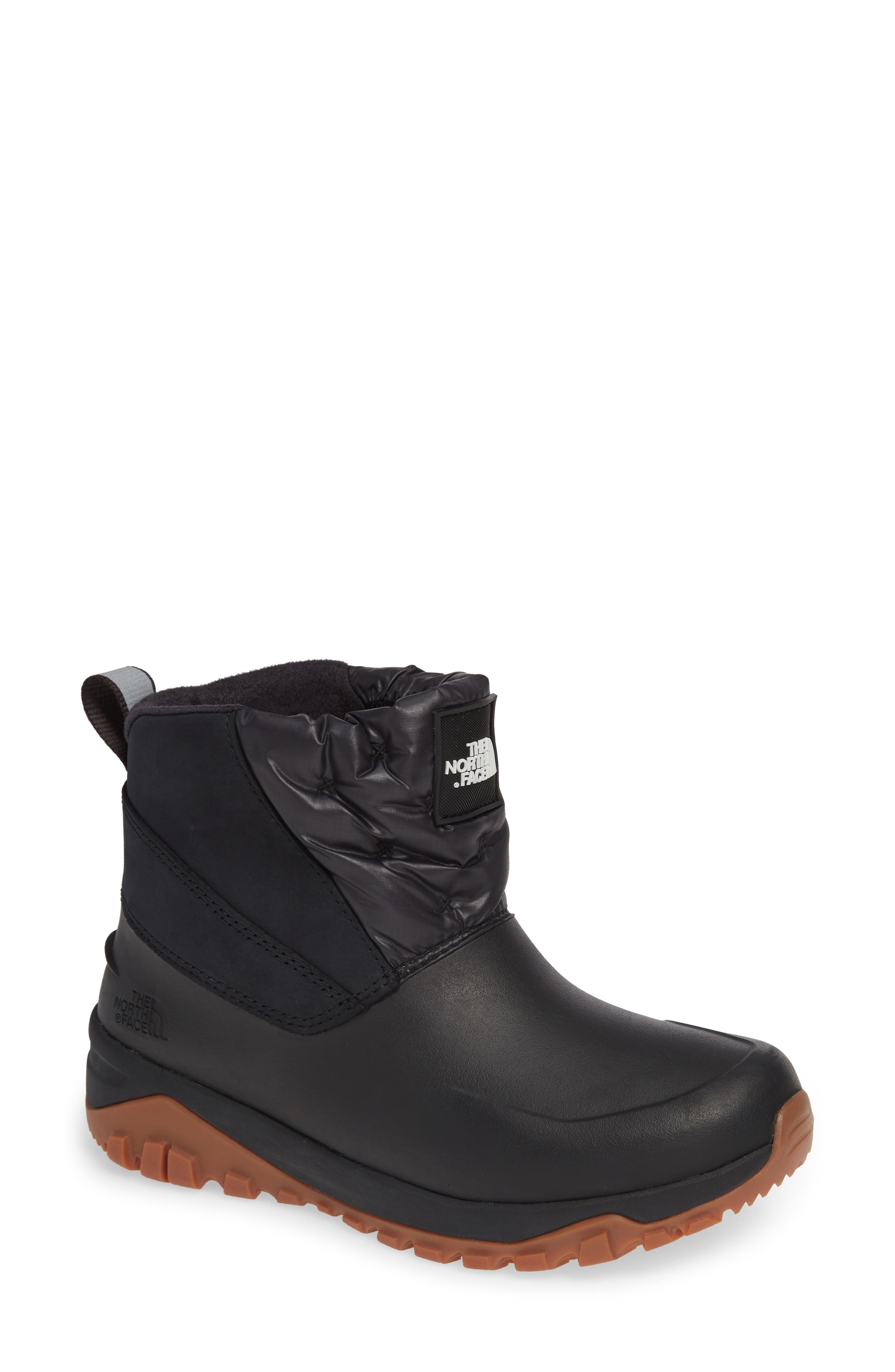 The North Face Yukiona Waterproof Ankle Boot- Black