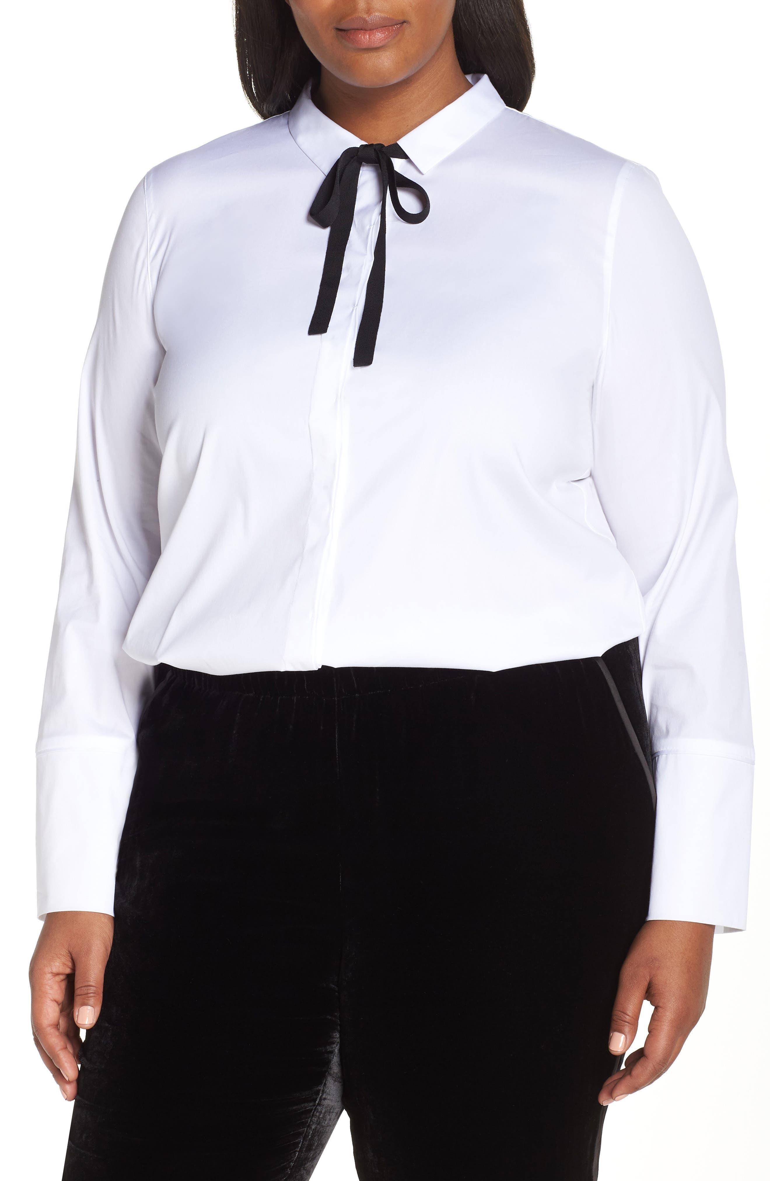 Annaliese Shirt,                             Alternate thumbnail 2, color,                             WHITE