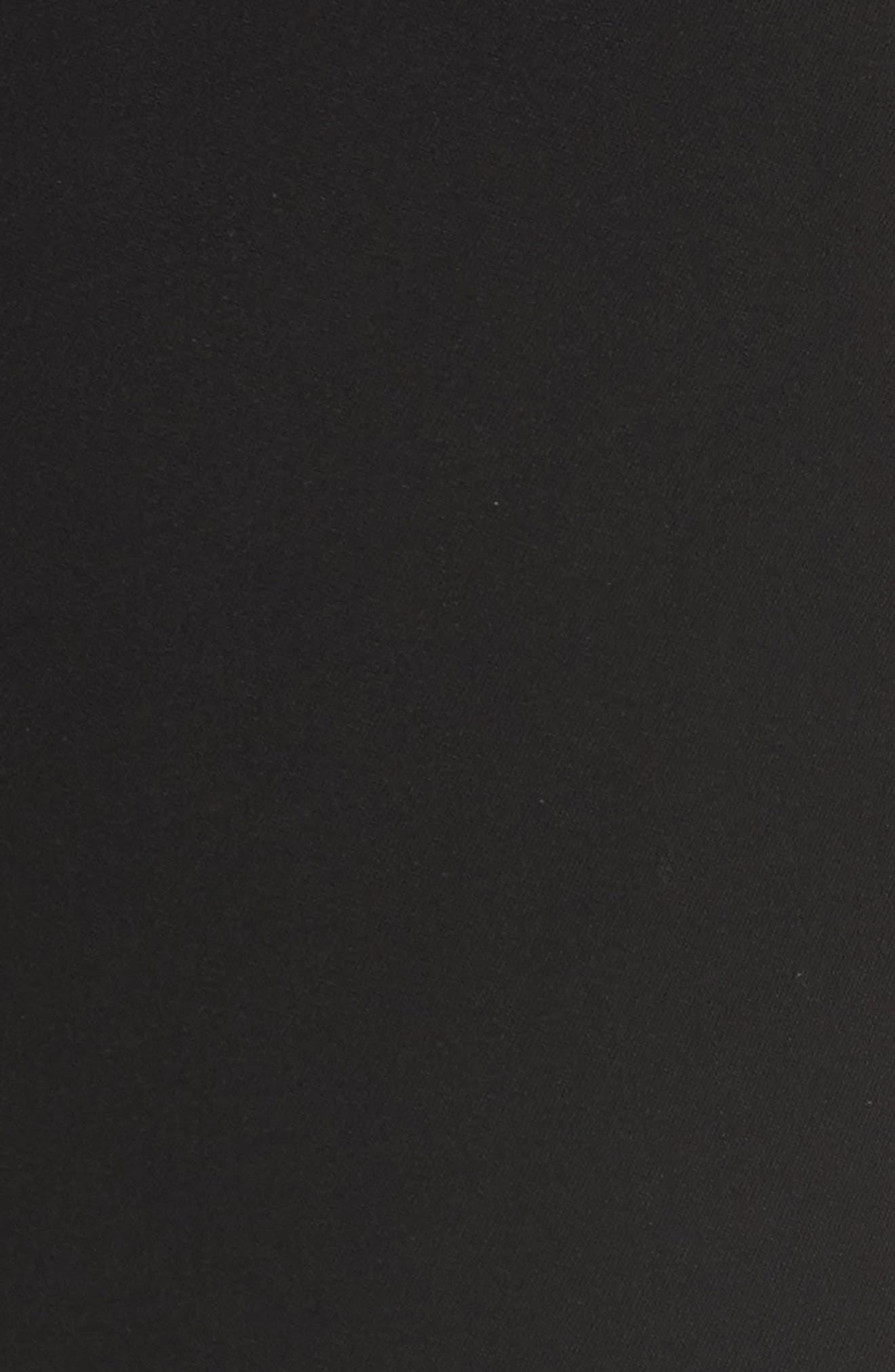 Francoise Wool Straight Leg Pants,                             Alternate thumbnail 5, color,                             BLACK