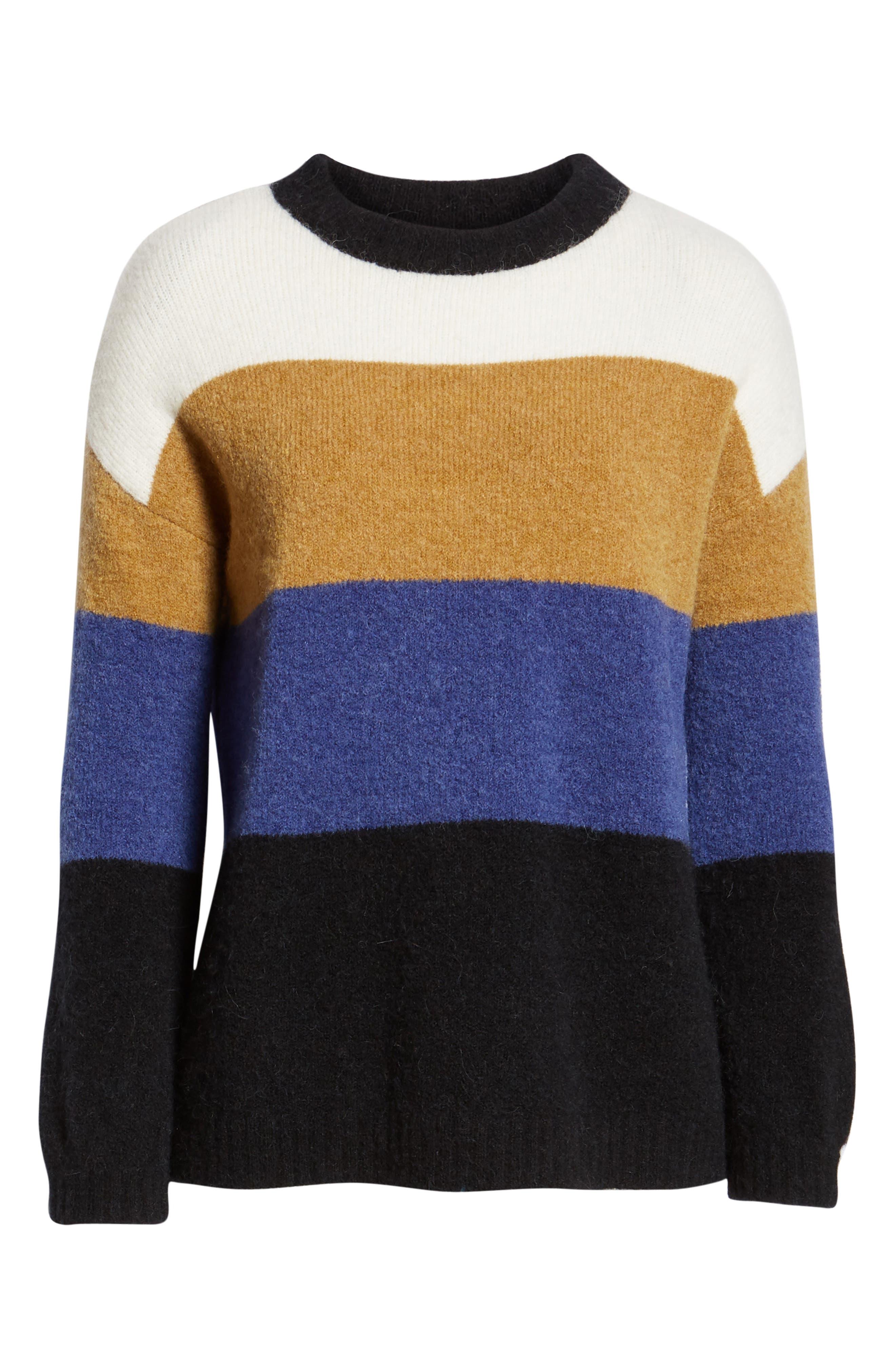 RAILS,                             Sylvie Stripe Sweater,                             Alternate thumbnail 7, color,                             900