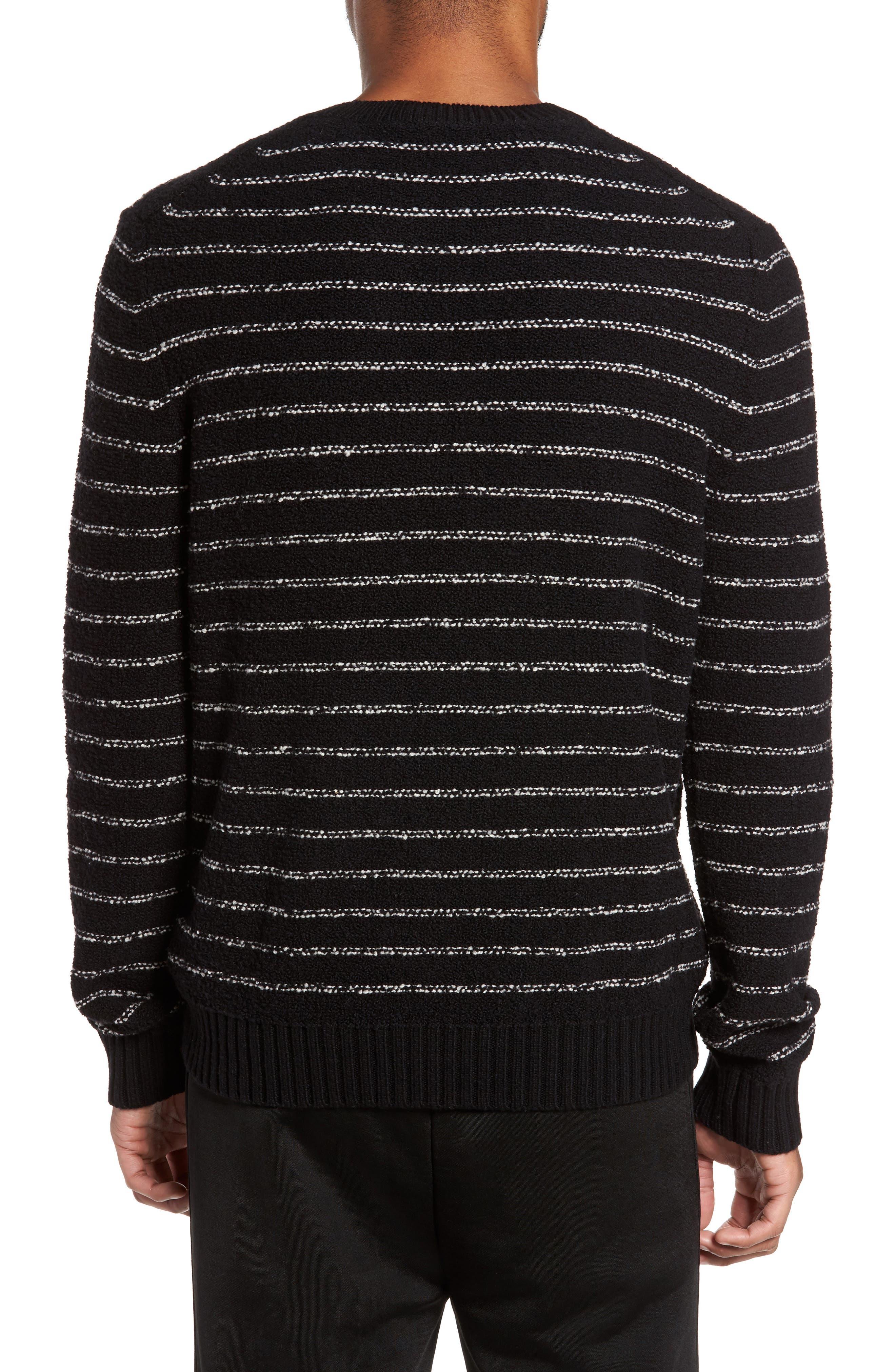 Stripe Merino Sweater,                             Alternate thumbnail 2, color,                             001