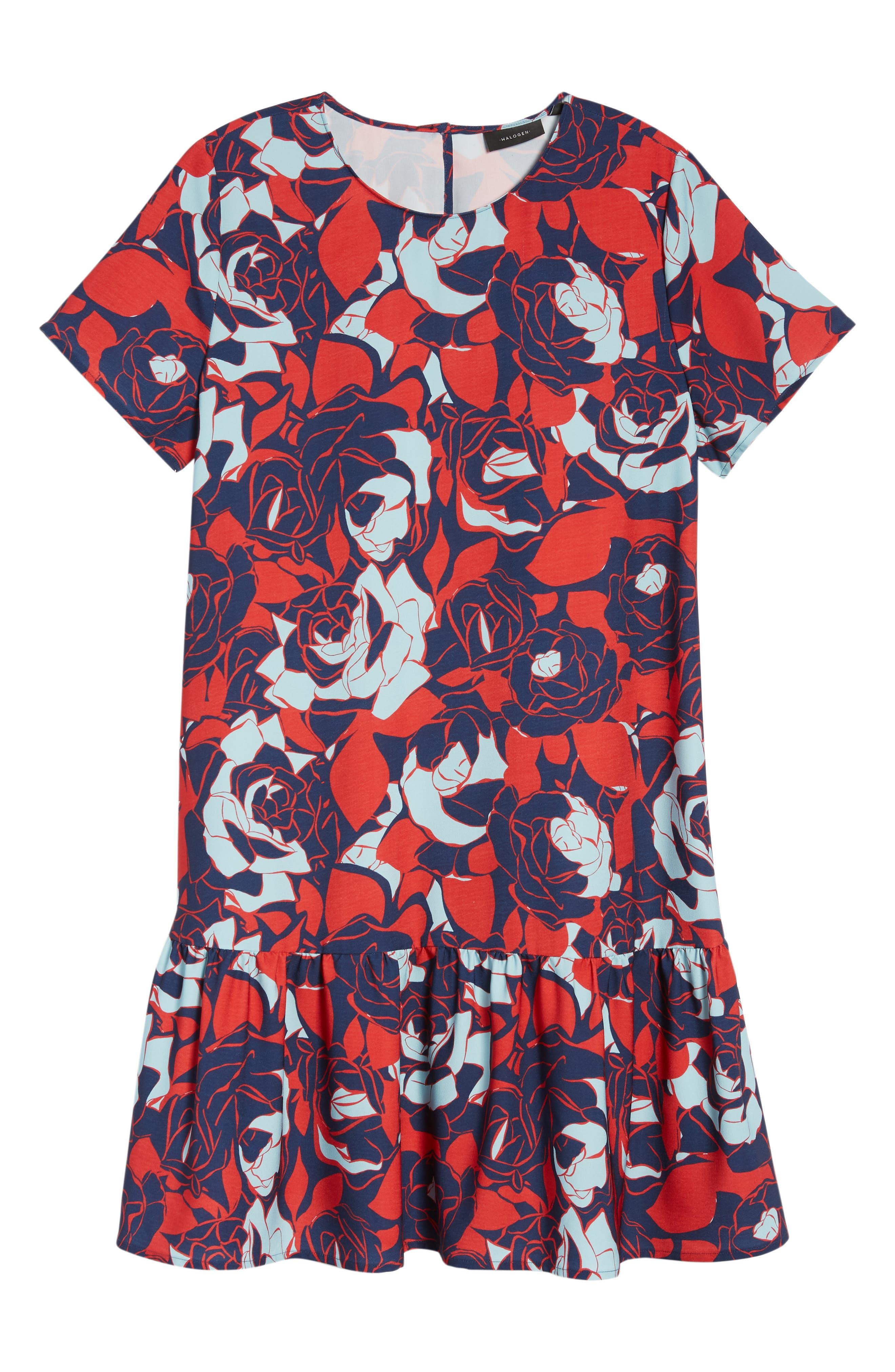 Short Sleeve Ruffle Hem Dress,                             Alternate thumbnail 40, color,