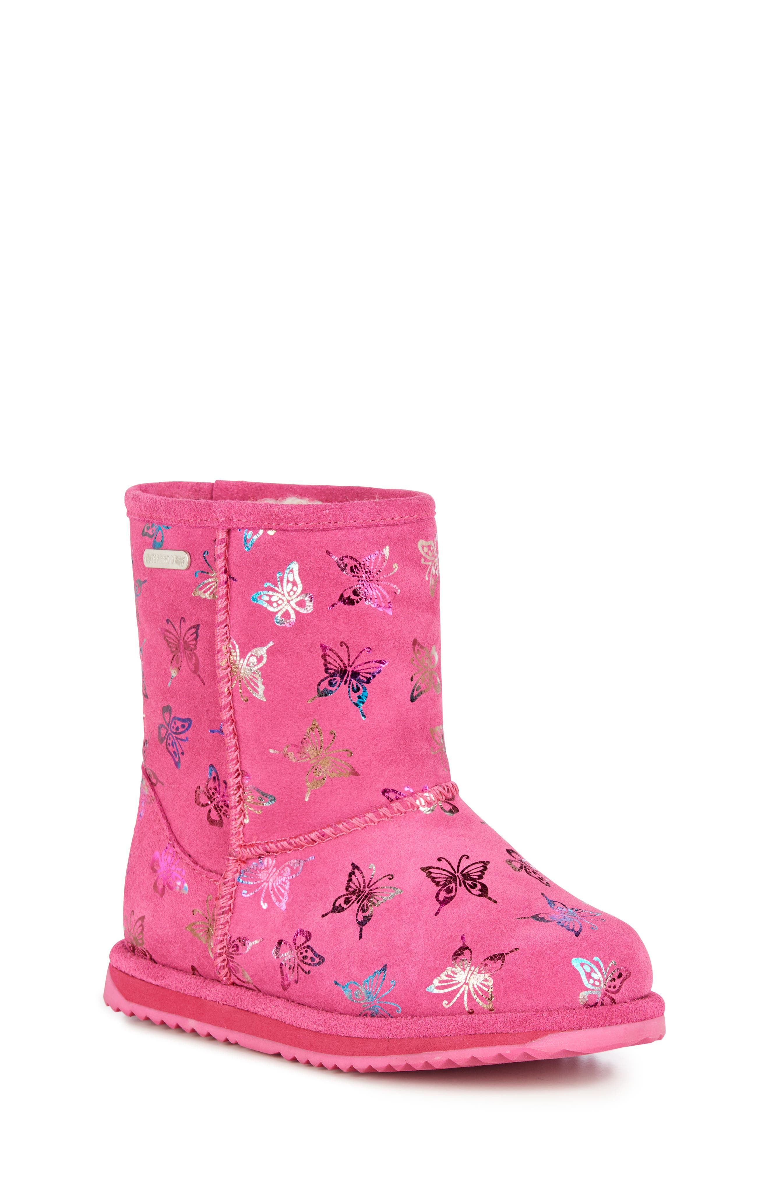 Animal Print Boots,                         Main,                         color, HOT PINK
