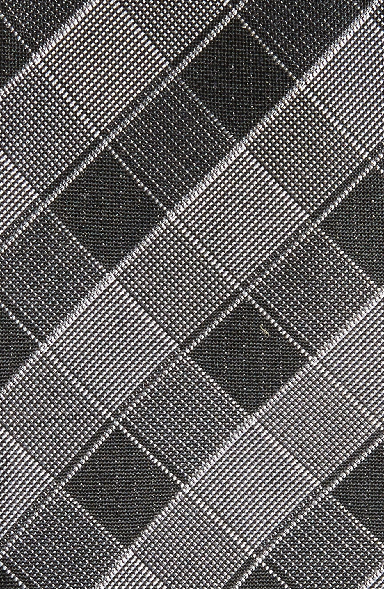 Cobbin Plaid Silk Tie,                             Alternate thumbnail 2, color,                             001