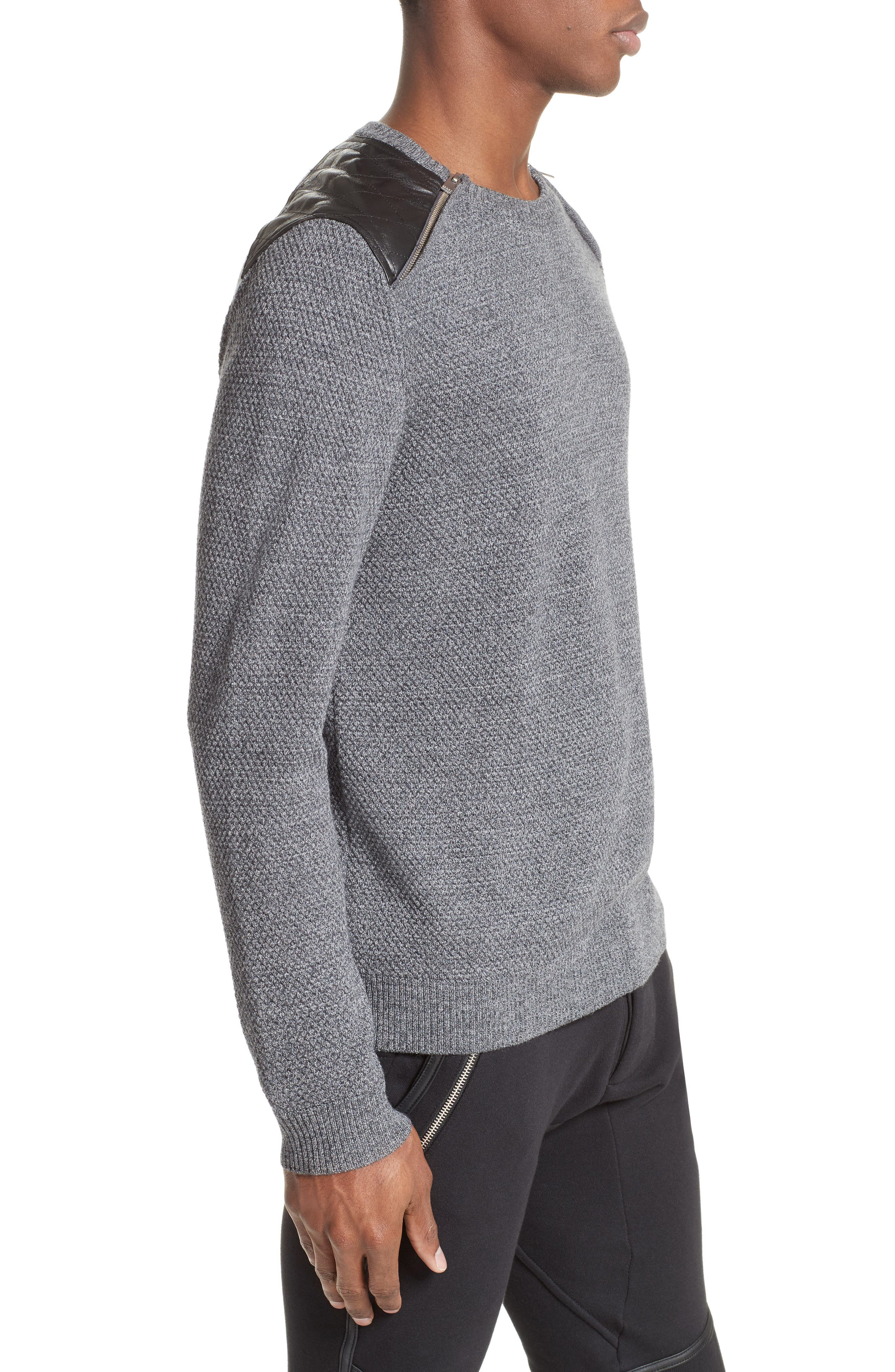 Merino Wool Sweater,                             Alternate thumbnail 3, color,                             020