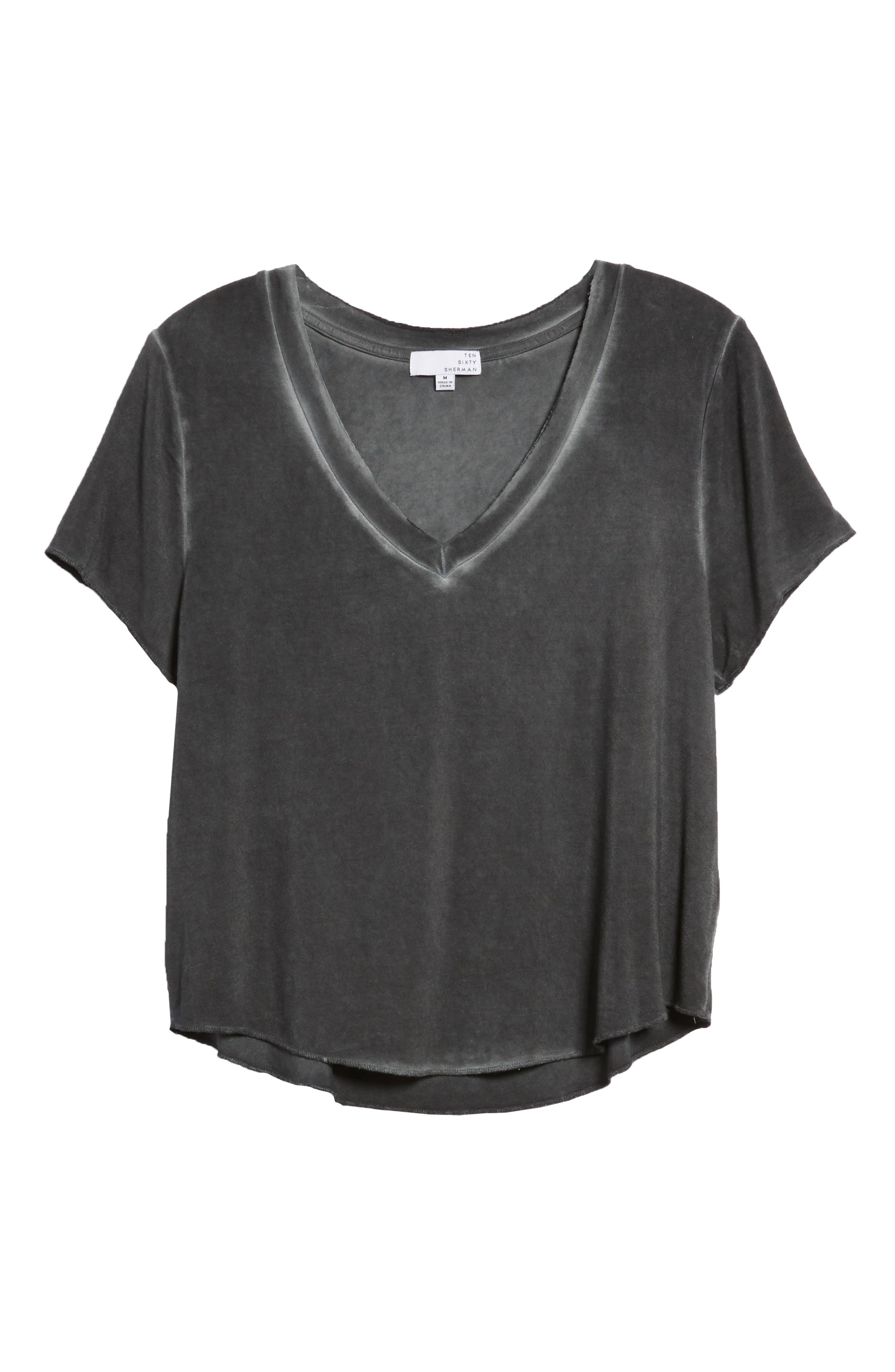 TEN SIXTY SHERMAN,                             Meet & Greet V-Neck Tee,                             Alternate thumbnail 6, color,                             001