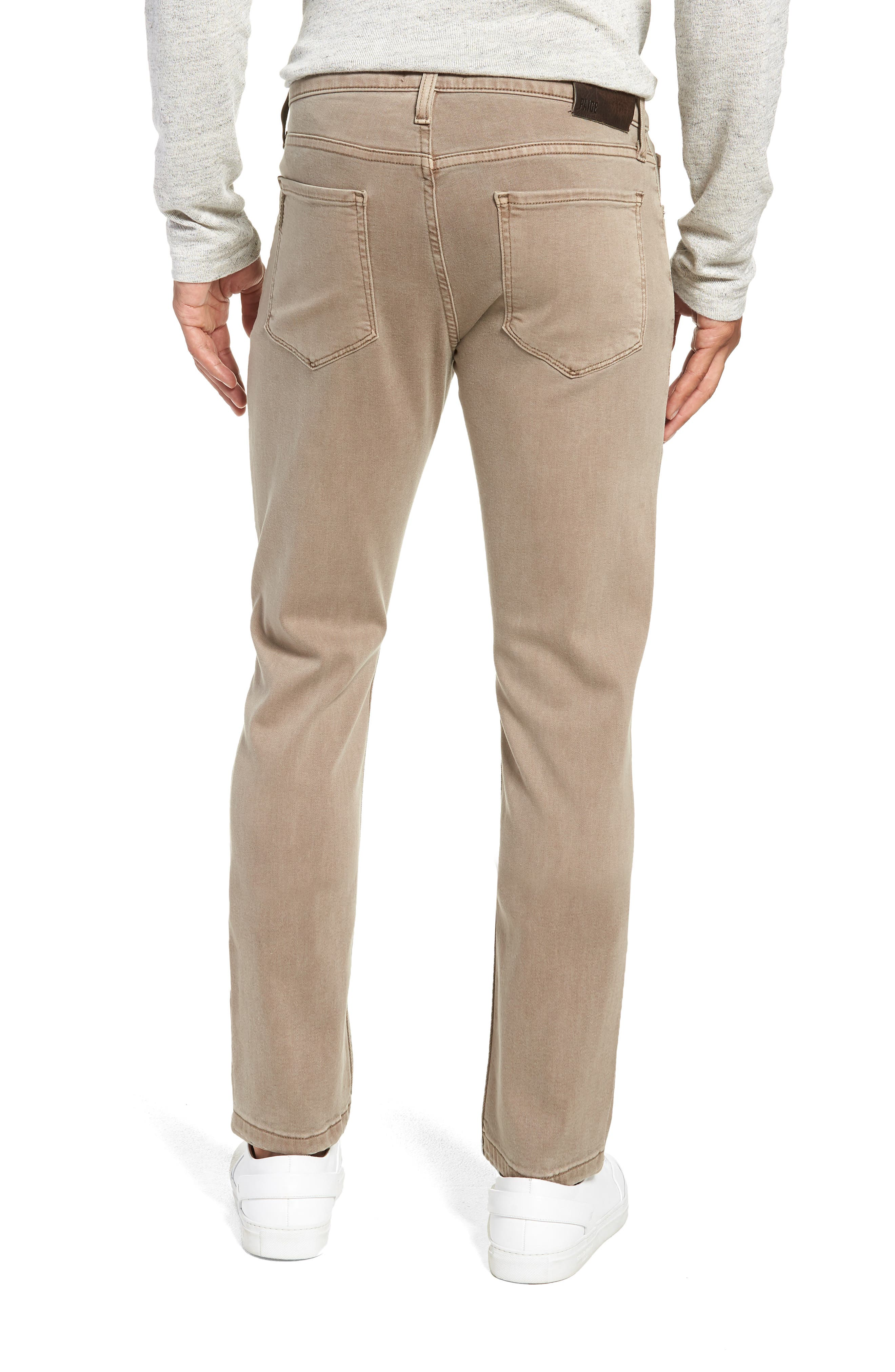 Transcend - Lennox Slim Fit Twill Pants,                             Alternate thumbnail 2, color,                             VINTAGE MUSHROOM
