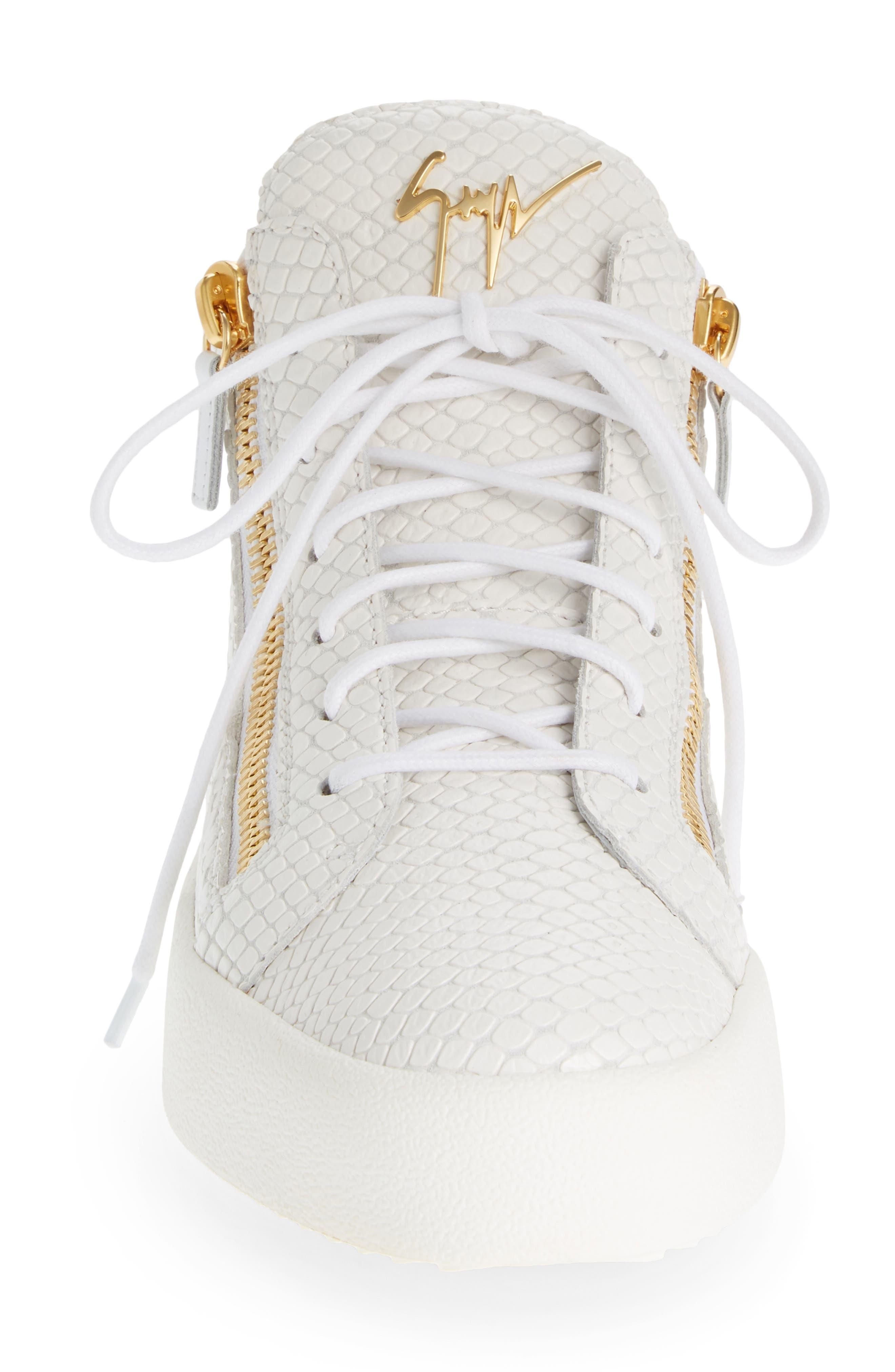 Mid Top Sneaker,                             Alternate thumbnail 4, color,                             BIANCO