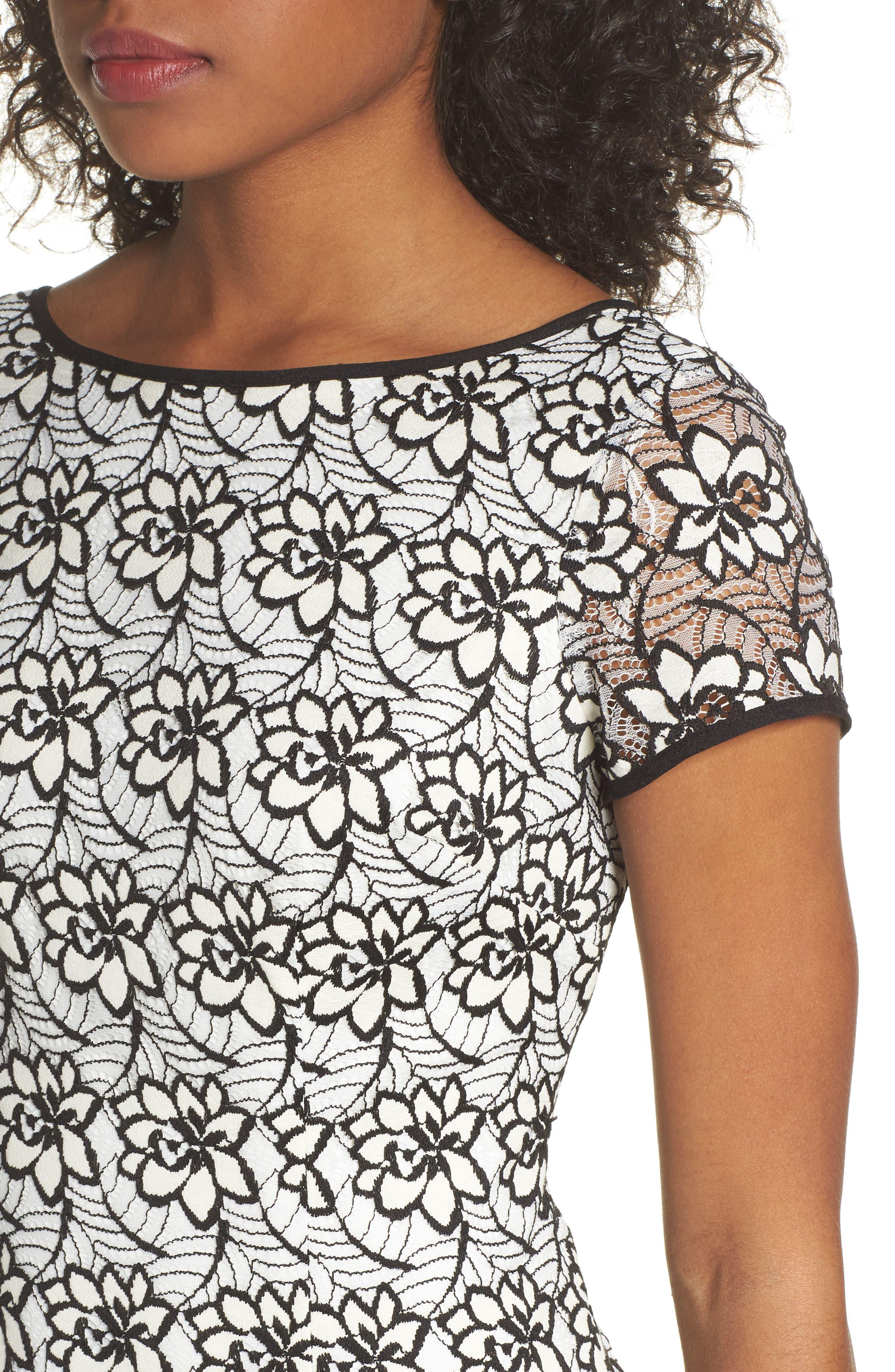 Lace Sheath Dress,                             Alternate thumbnail 4, color,
