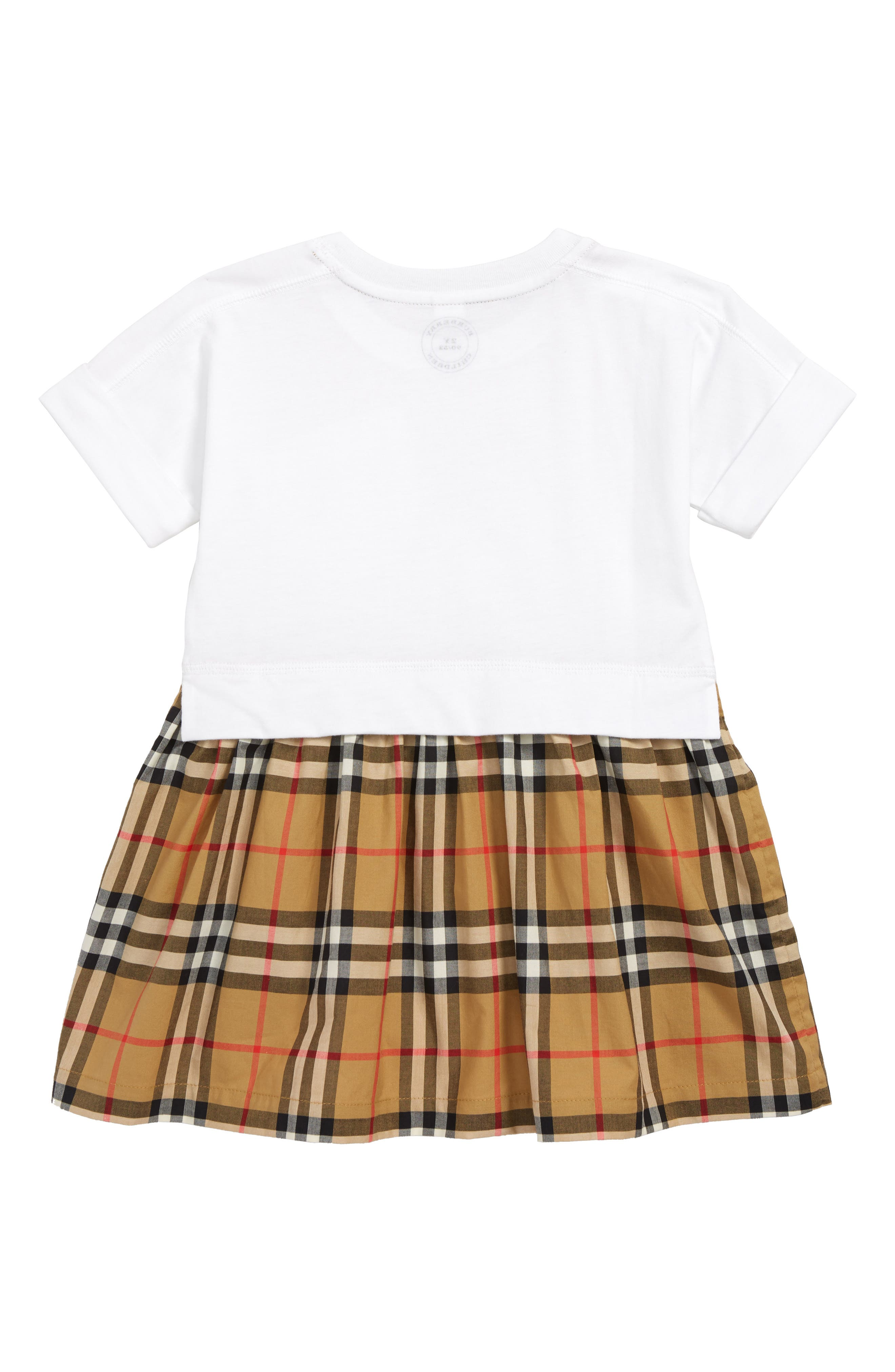 Ruby Vintage Check Cotton Dress,                             Alternate thumbnail 2, color,                             WHITE
