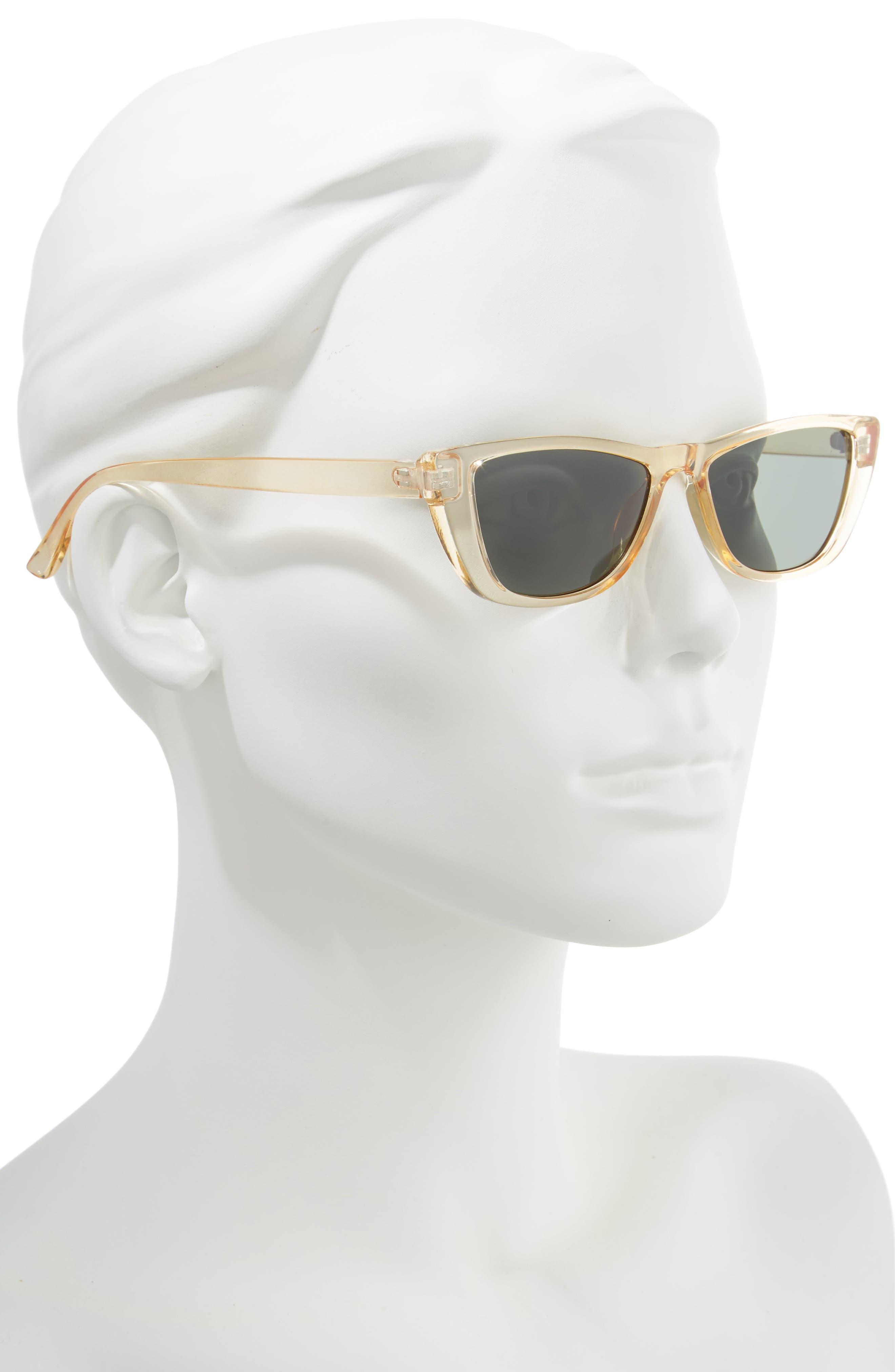 49mm Flat Top Rectangular Sunglasses,                             Alternate thumbnail 2, color,                             700