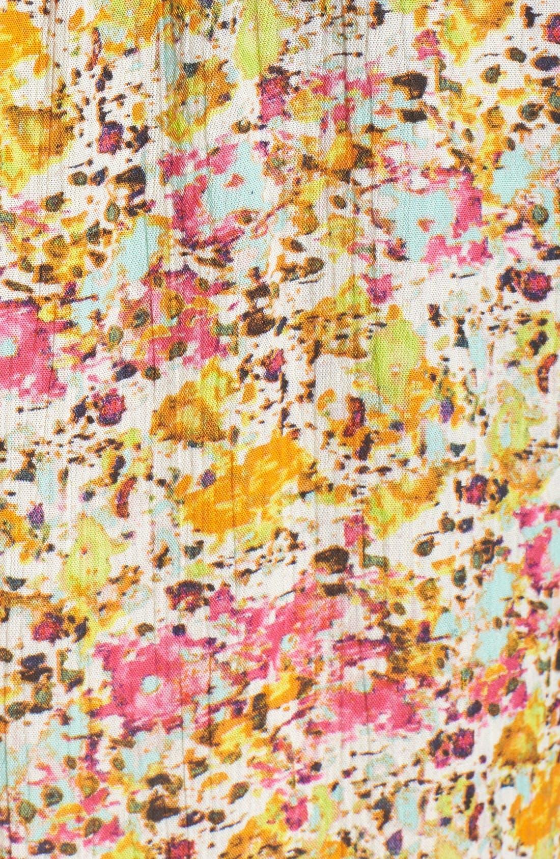 'Jasmine' Floral Print Roll Sleeve Blouse,                             Alternate thumbnail 4, color,                             301