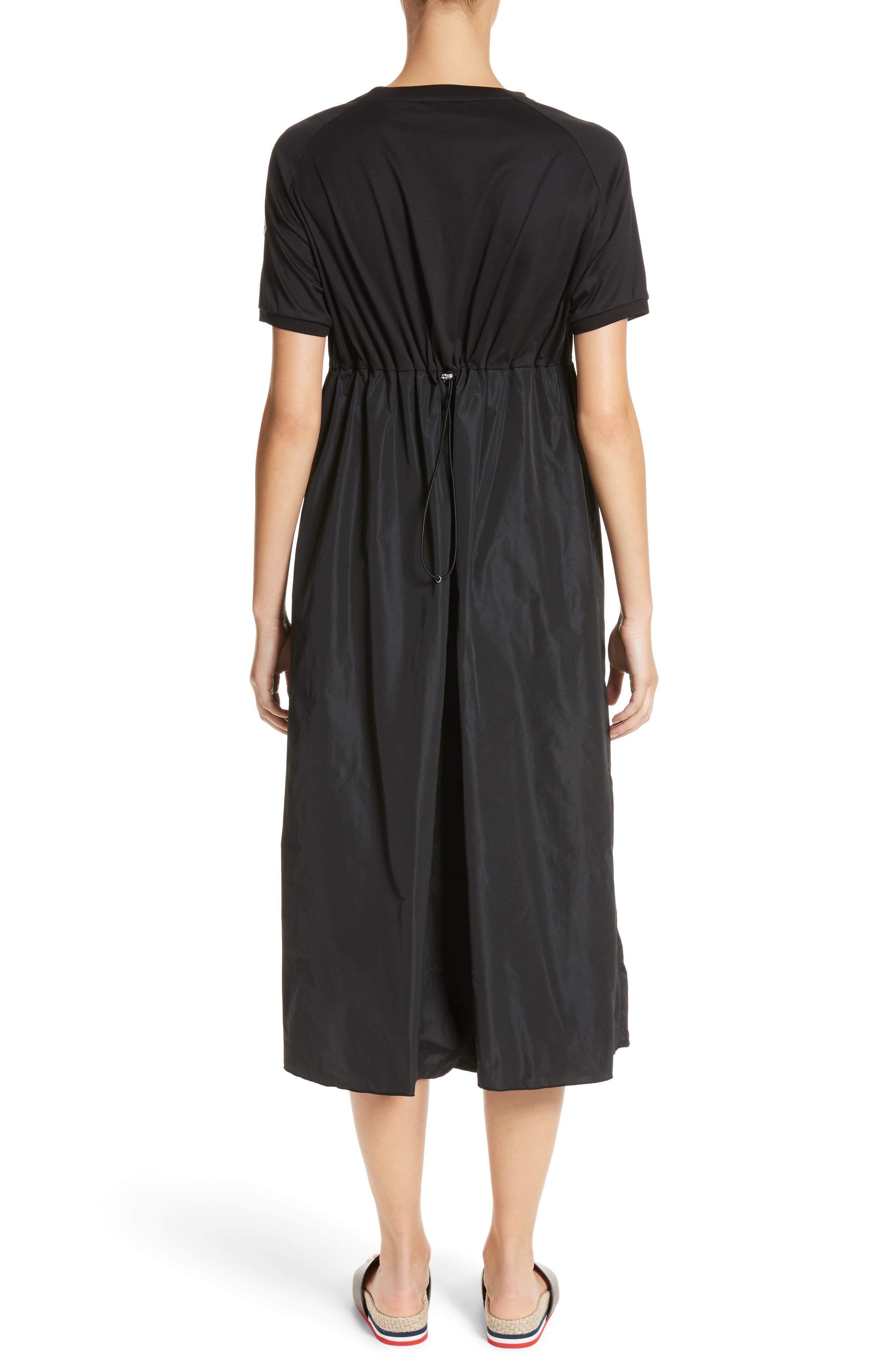Abito Shirred Midi Dress,                             Alternate thumbnail 2, color,                             BLACK