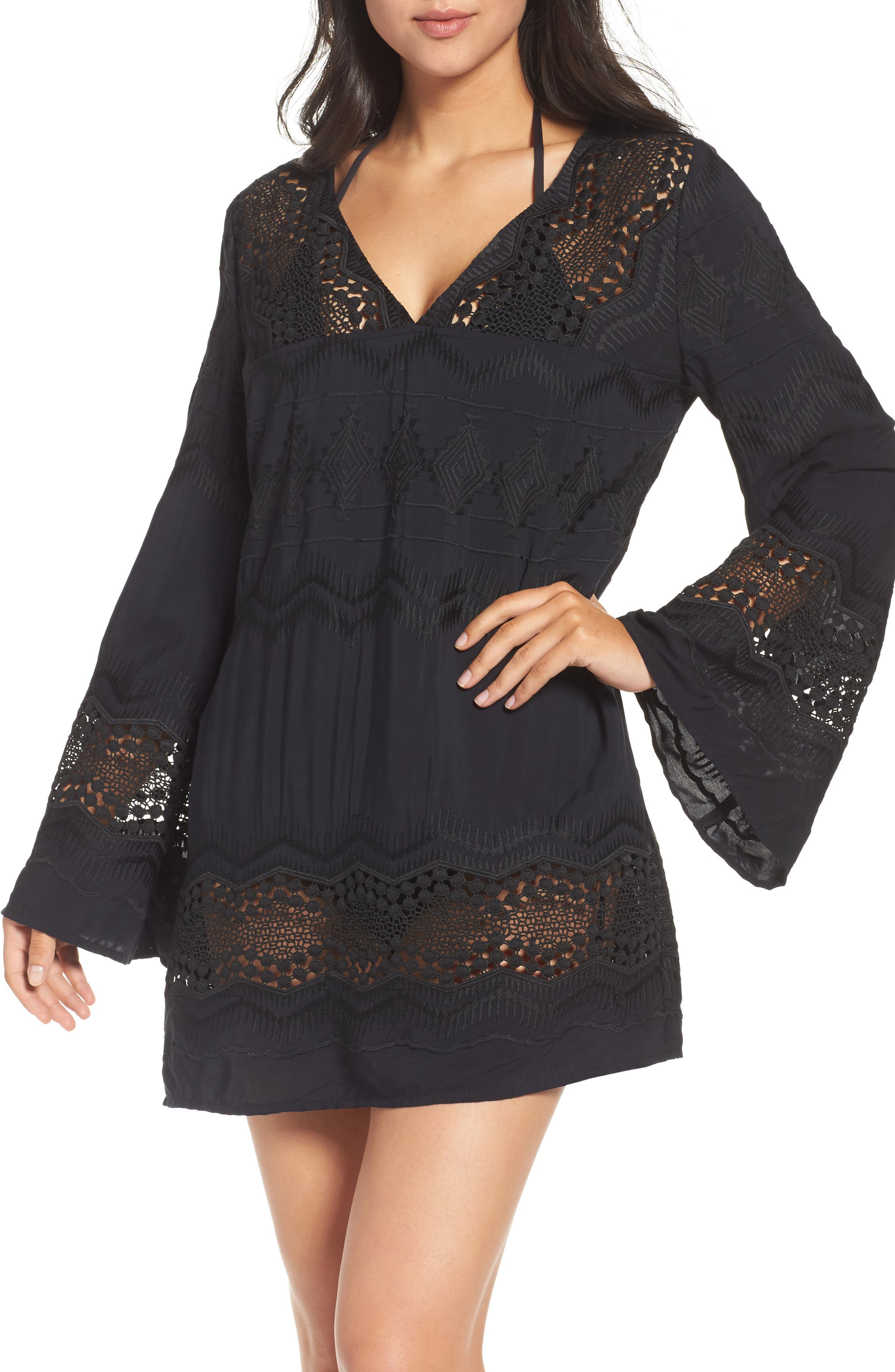 Cover-Up Tunic,                             Main thumbnail 1, color,                             BLACK