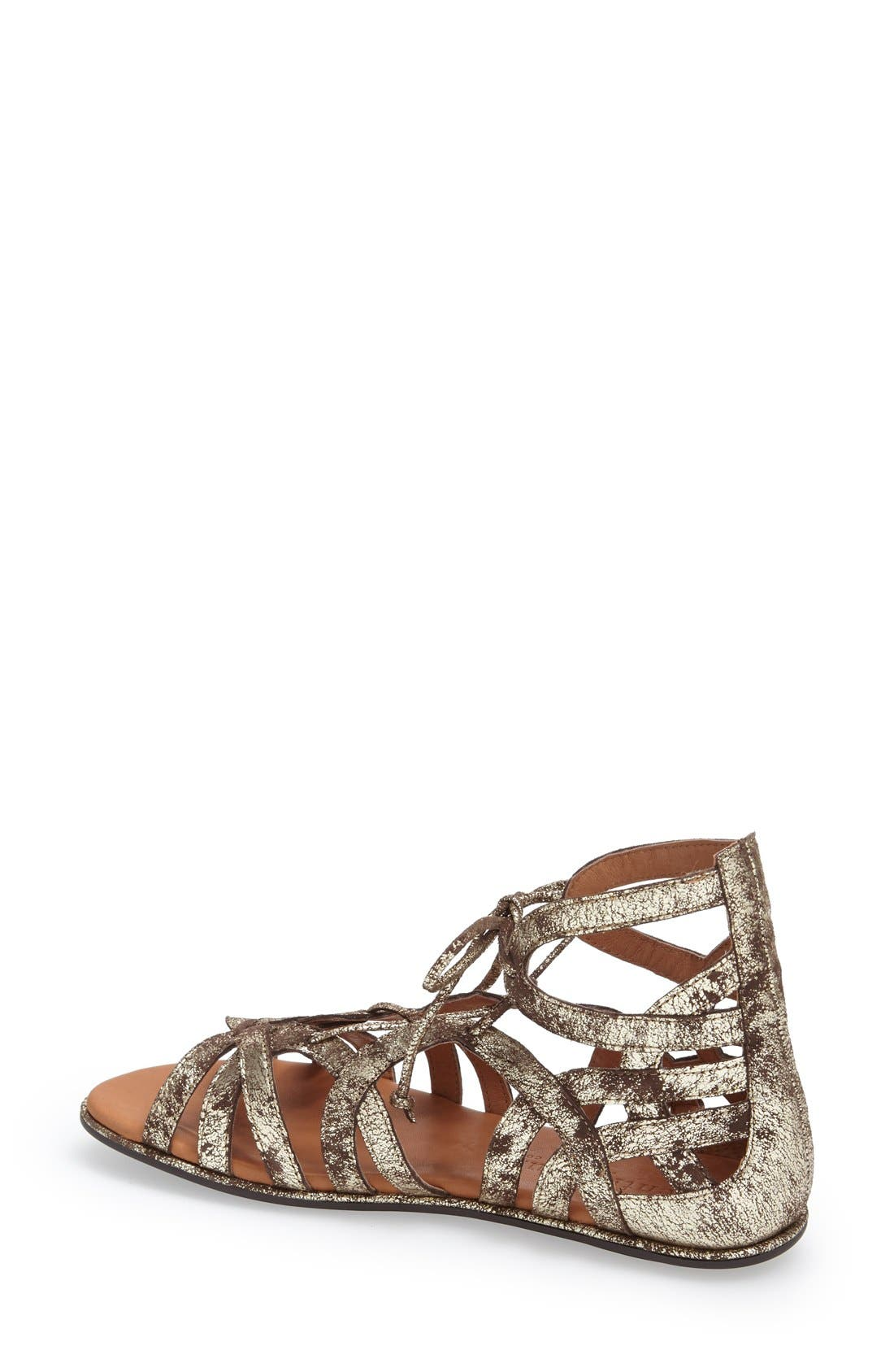 GENTLE SOULS BY KENNETH COLE,                             'Break My Heart 3' Cage Sandal,                             Alternate thumbnail 2, color,                             BROWN LEATHER