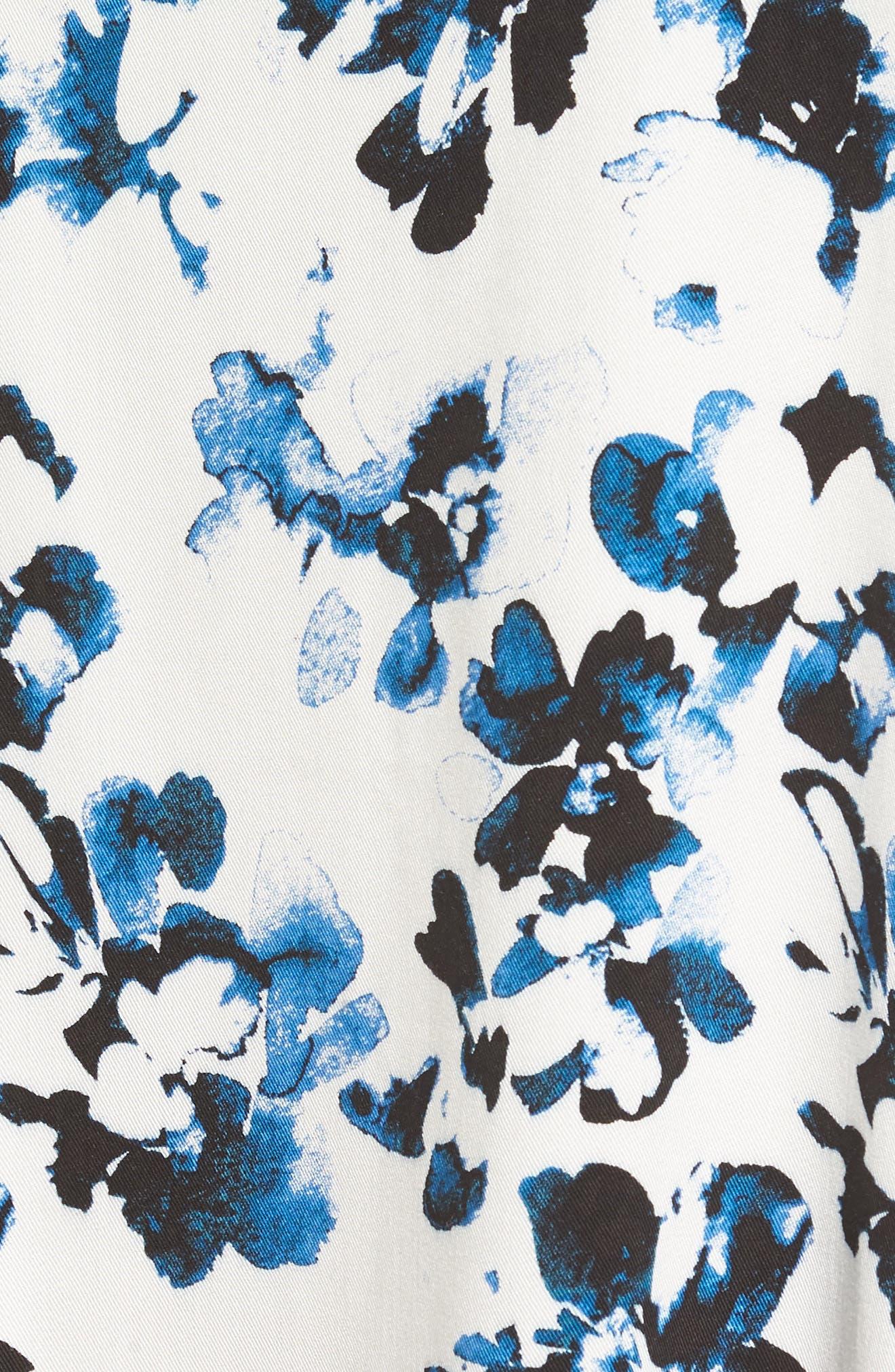 Habits Floral Print Dress,                             Alternate thumbnail 5, color,                             100