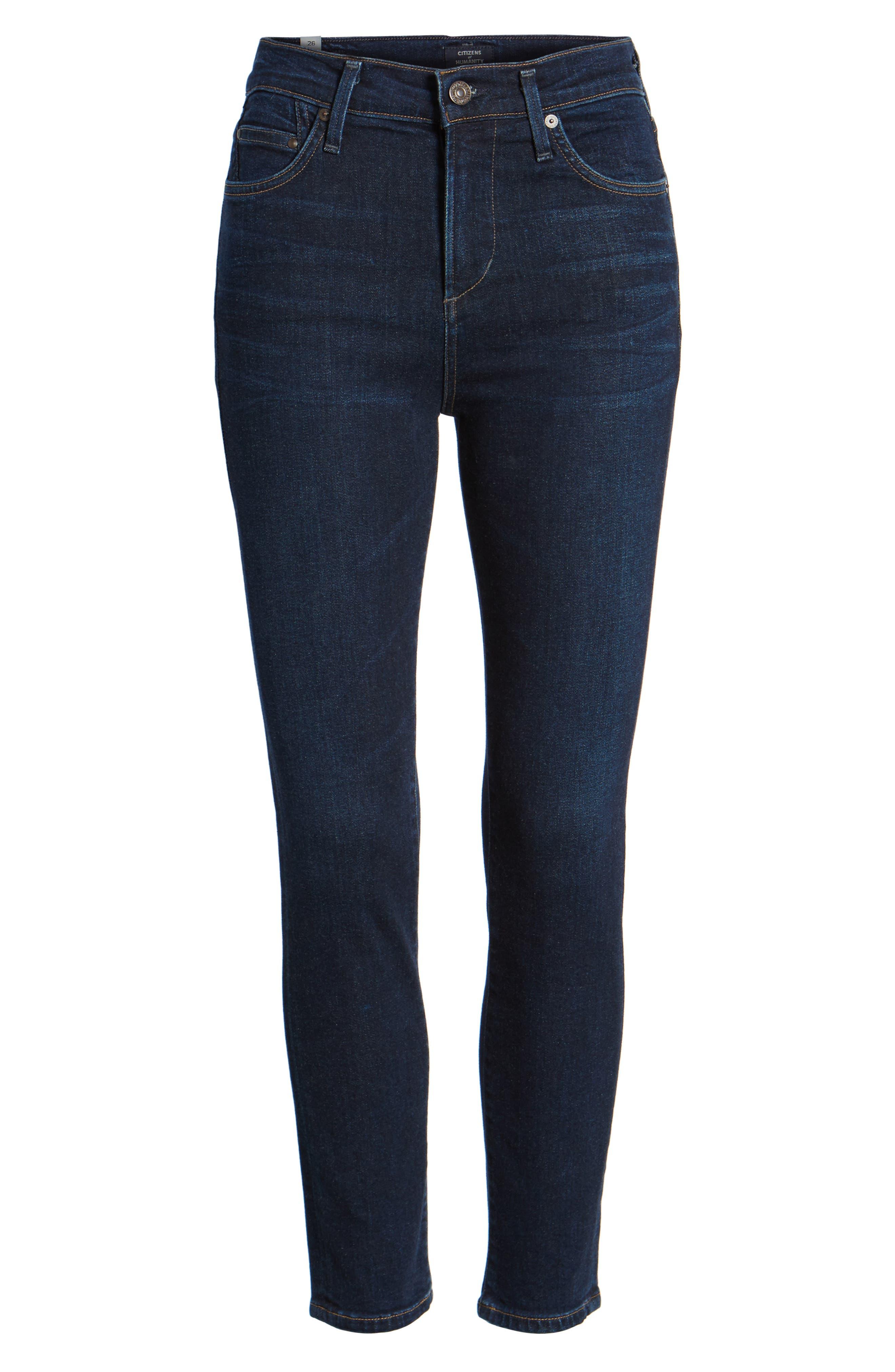 Rocket High Waist Crop Skinny Jeans,                             Alternate thumbnail 7, color,                             484