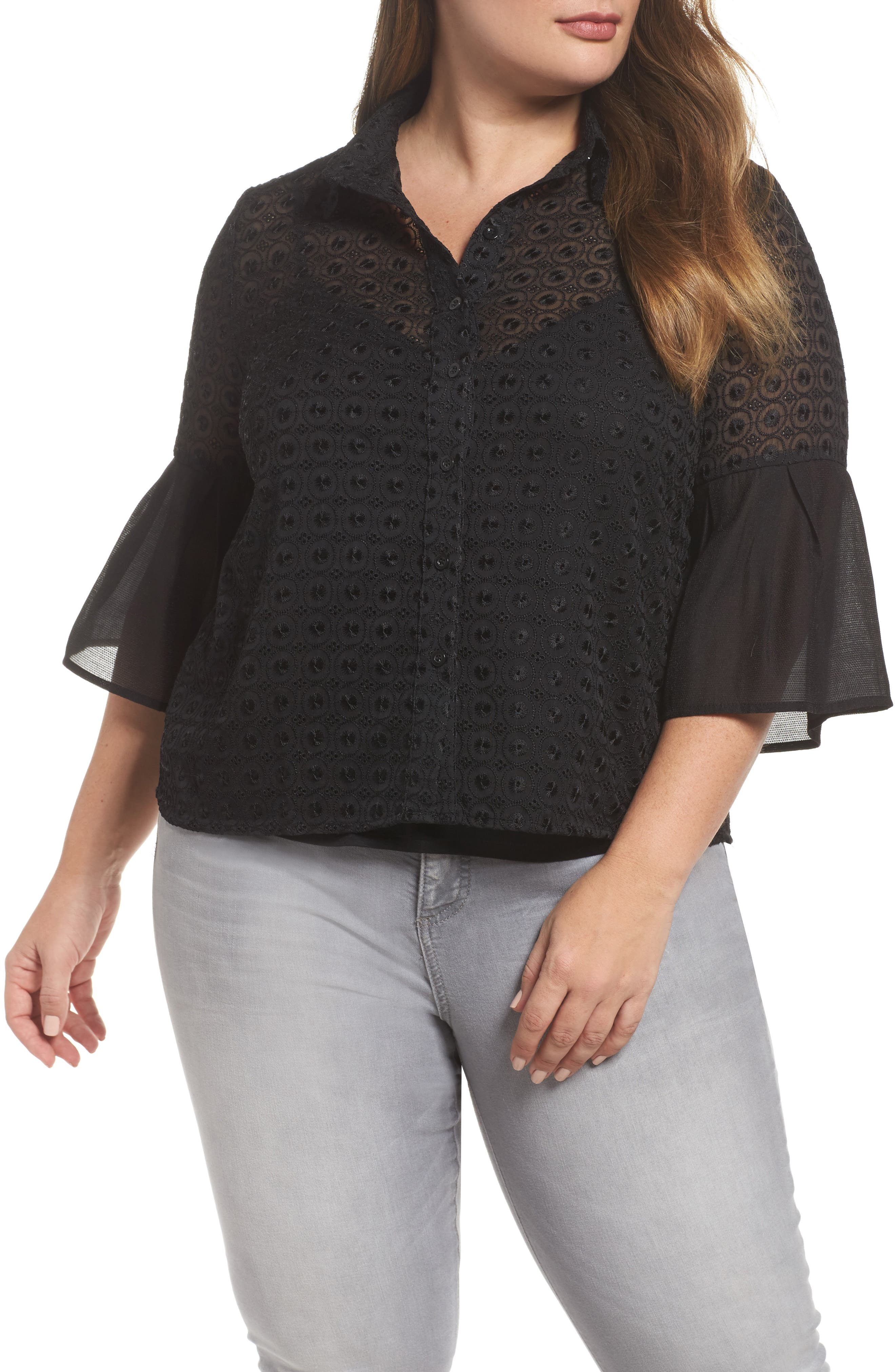 The Mantle Broderie Blouse,                         Main,                         color, 001