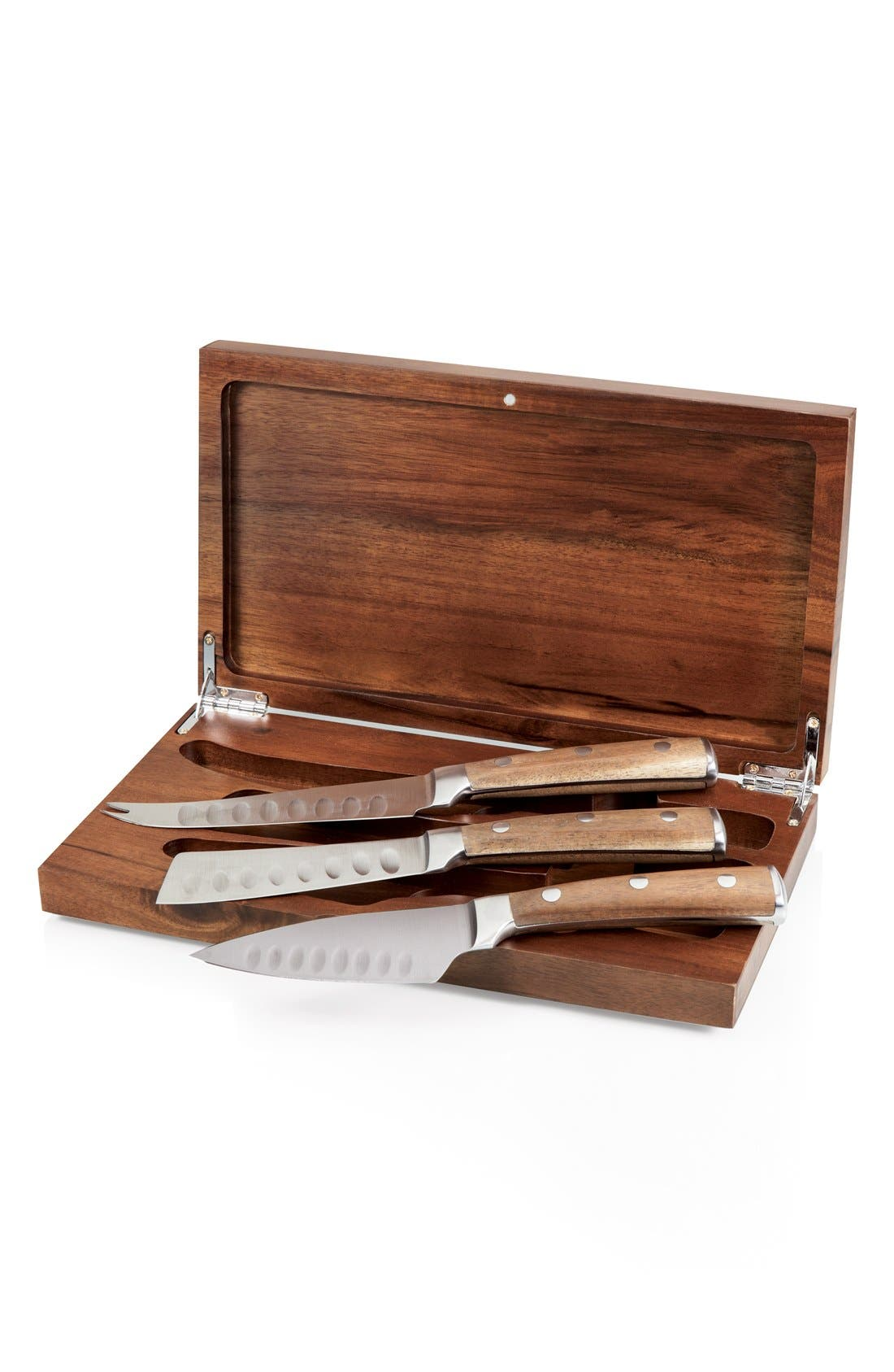 'Legacy Heritage Collection by Fabio Viviani - Tridente' Cheese Tools,                             Main thumbnail 1, color,                             BROWN