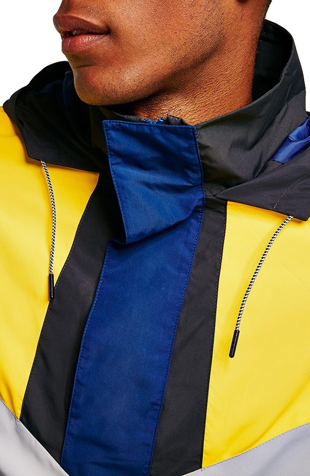 Half-Zip Pullover Hooded Jacket,                             Alternate thumbnail 3, color,                             001