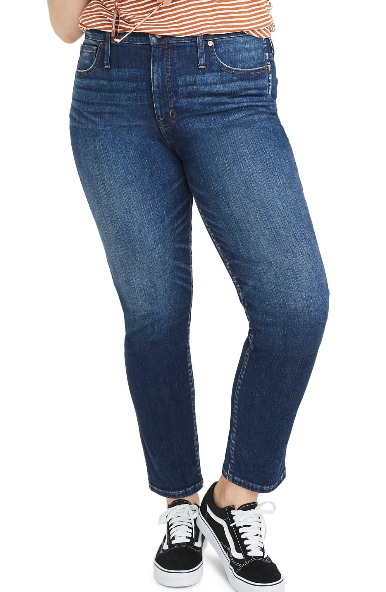 High Waist Slim Straight Leg Jeans,                             Alternate thumbnail 2, color,                             HAMMOND