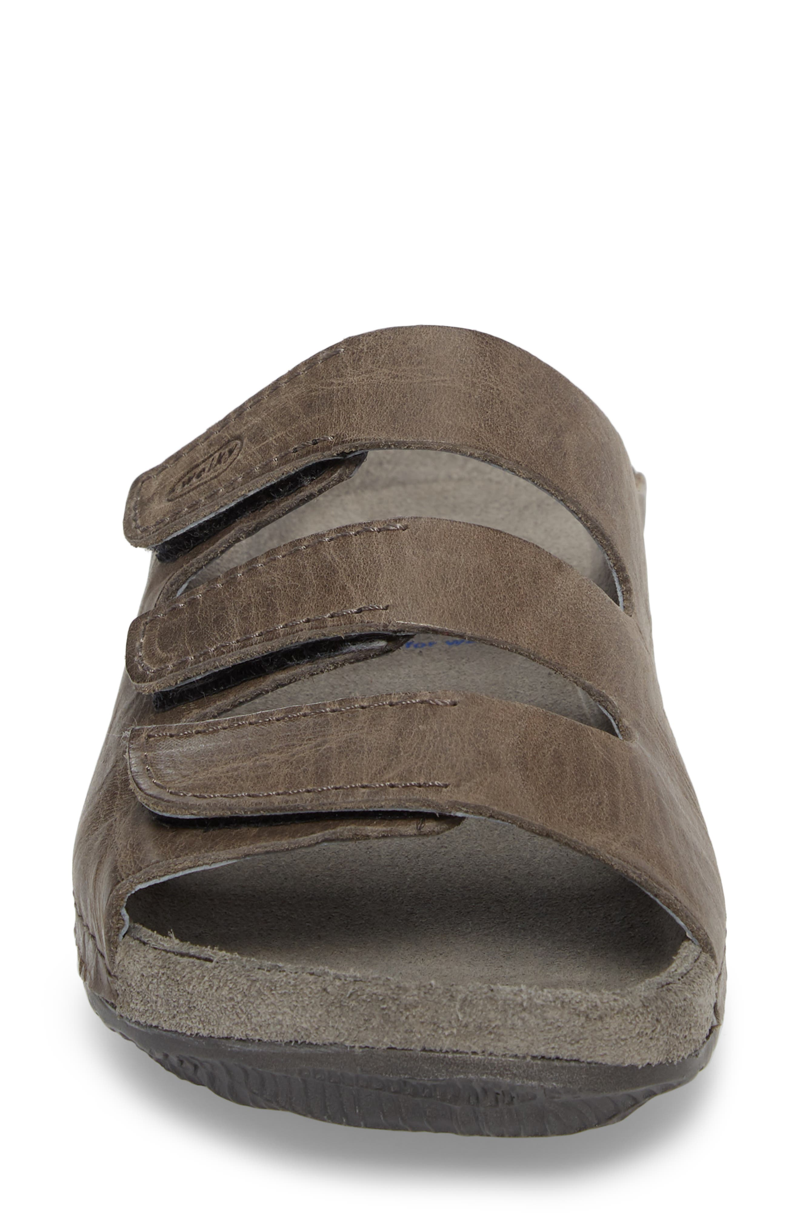 Nomad Slide Sandal,                             Alternate thumbnail 4, color,                             SLATE LEATHER