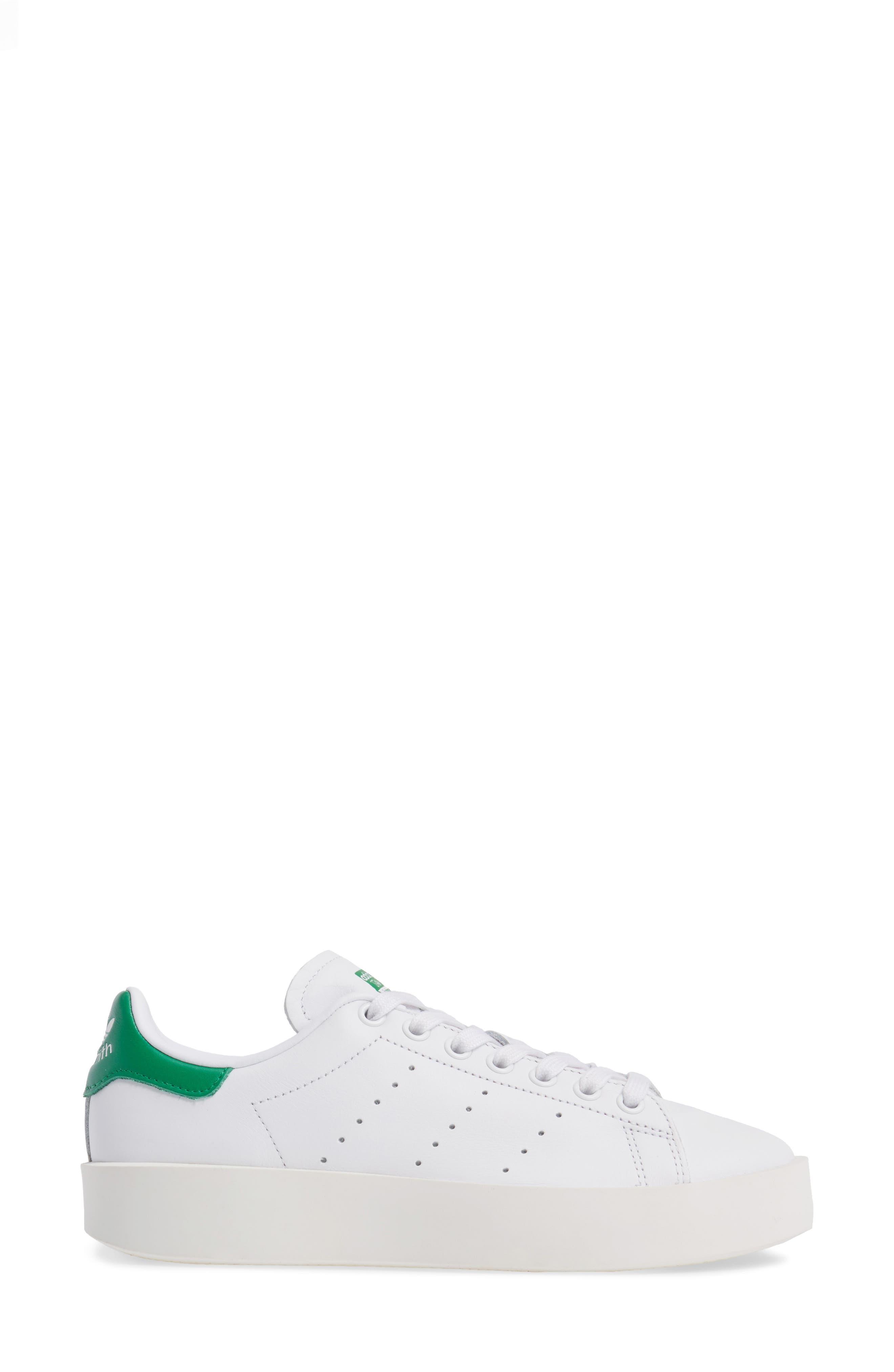 Stan Smith Bold Platform Sneaker,                             Alternate thumbnail 3, color,                             100