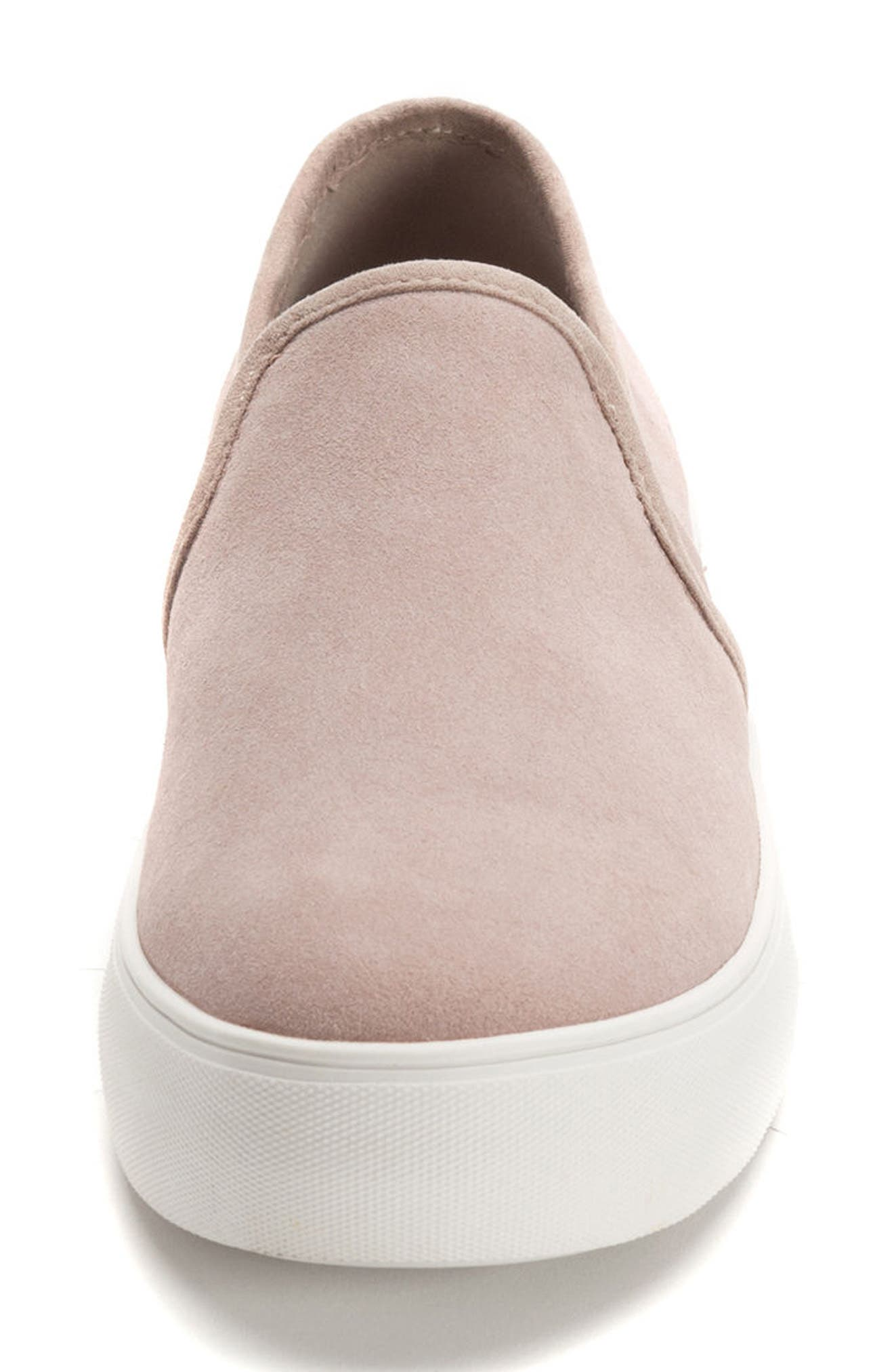 Glance Waterproof Sneaker,                             Alternate thumbnail 4, color,                             LIGHT PINK SUEDE