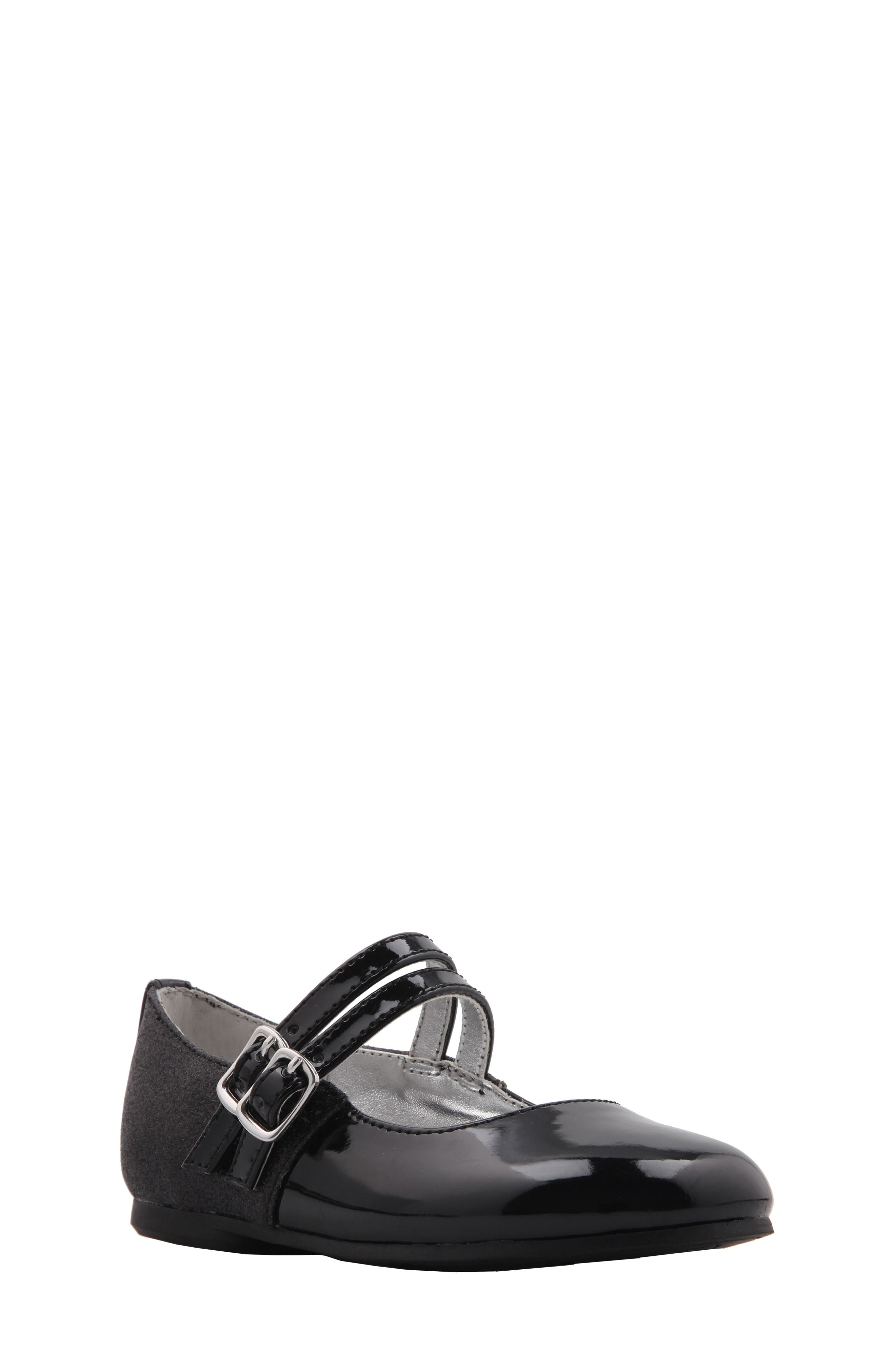 Genette Double-Strap Mary Jane Flat,                         Main,                         color, 003