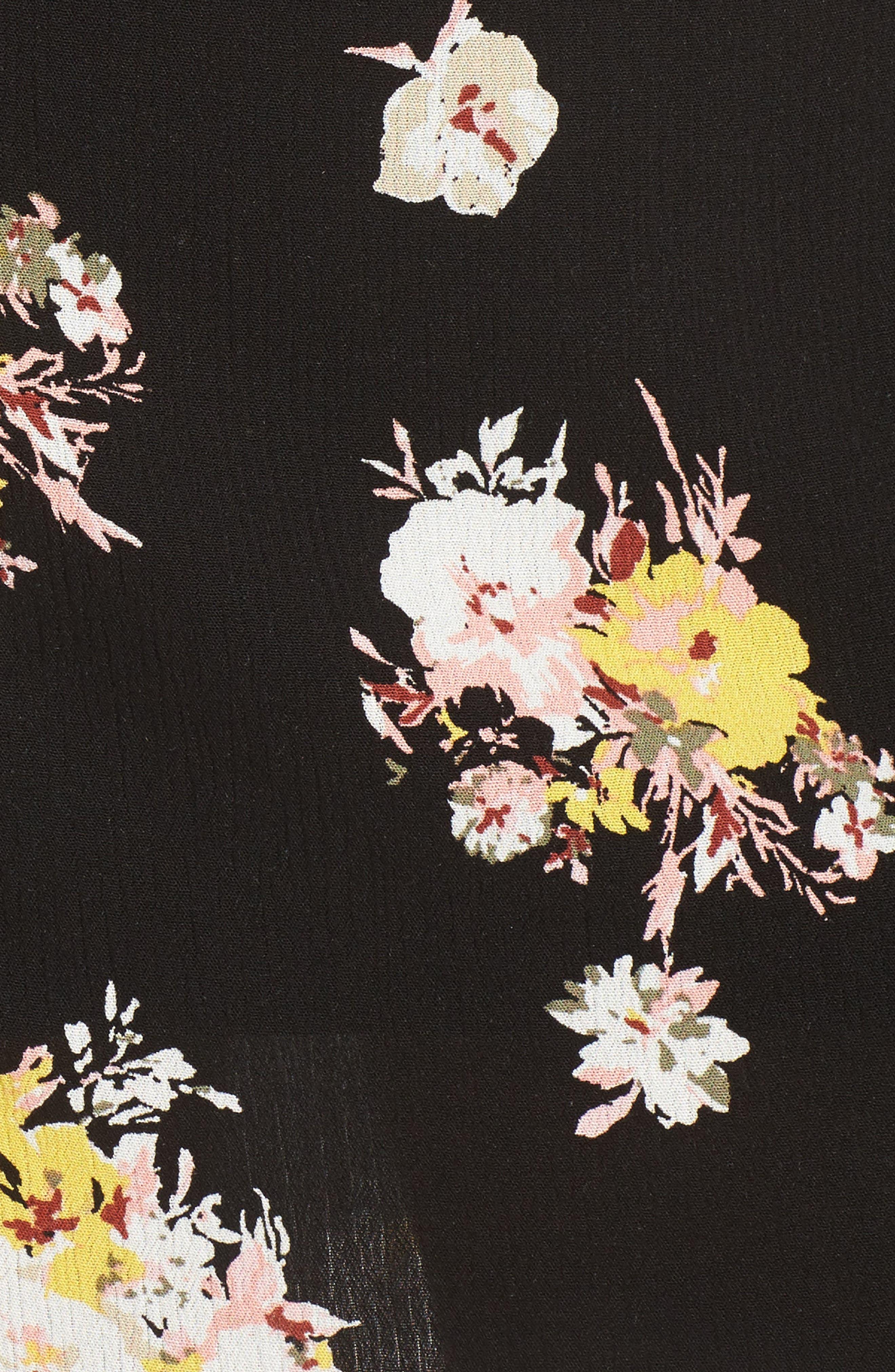Coordinating Floral Maxi Skirt,                             Alternate thumbnail 5, color,                             002