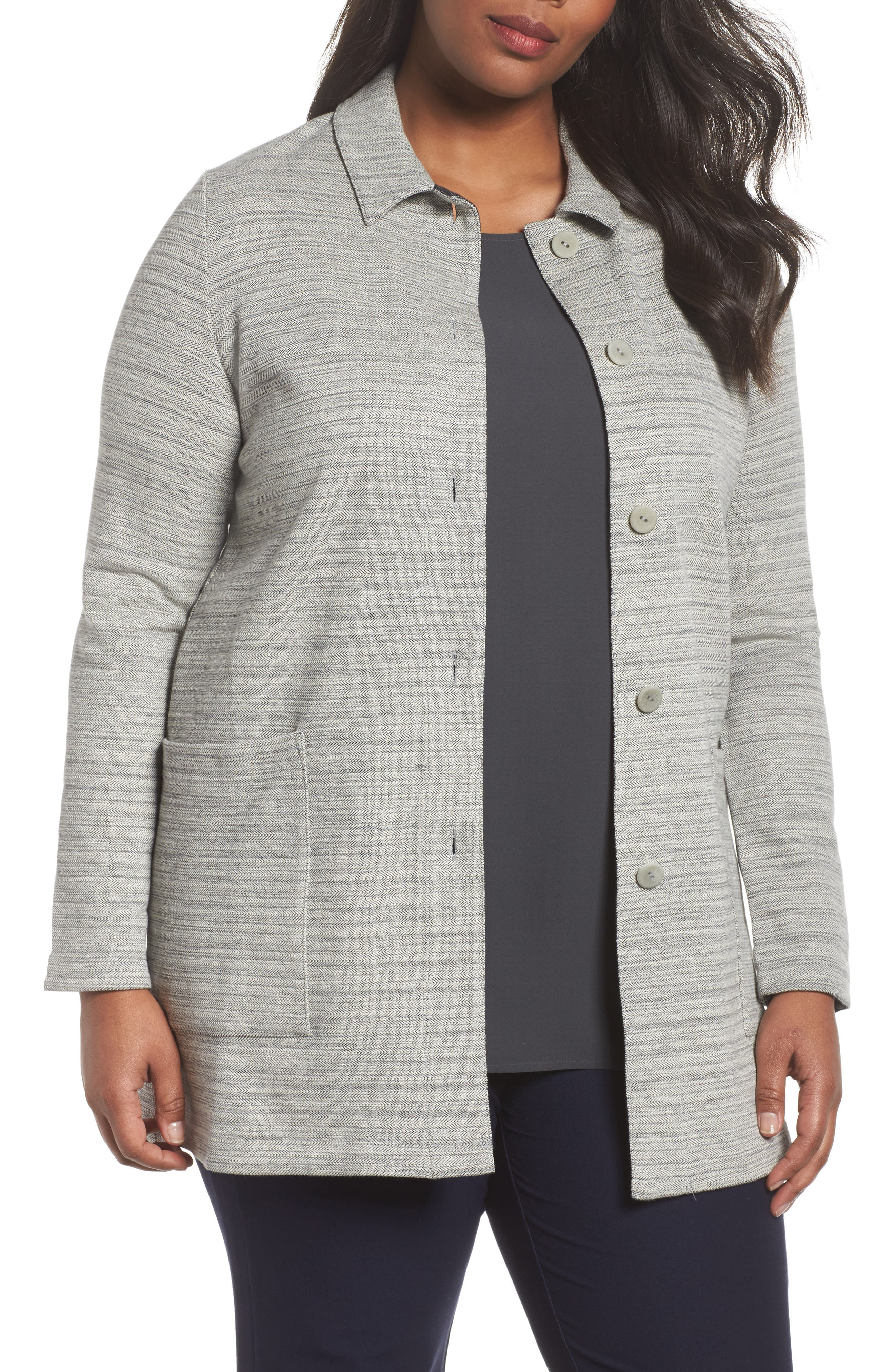 Cotton Blend Tweed Jacket,                             Main thumbnail 1, color,                             022