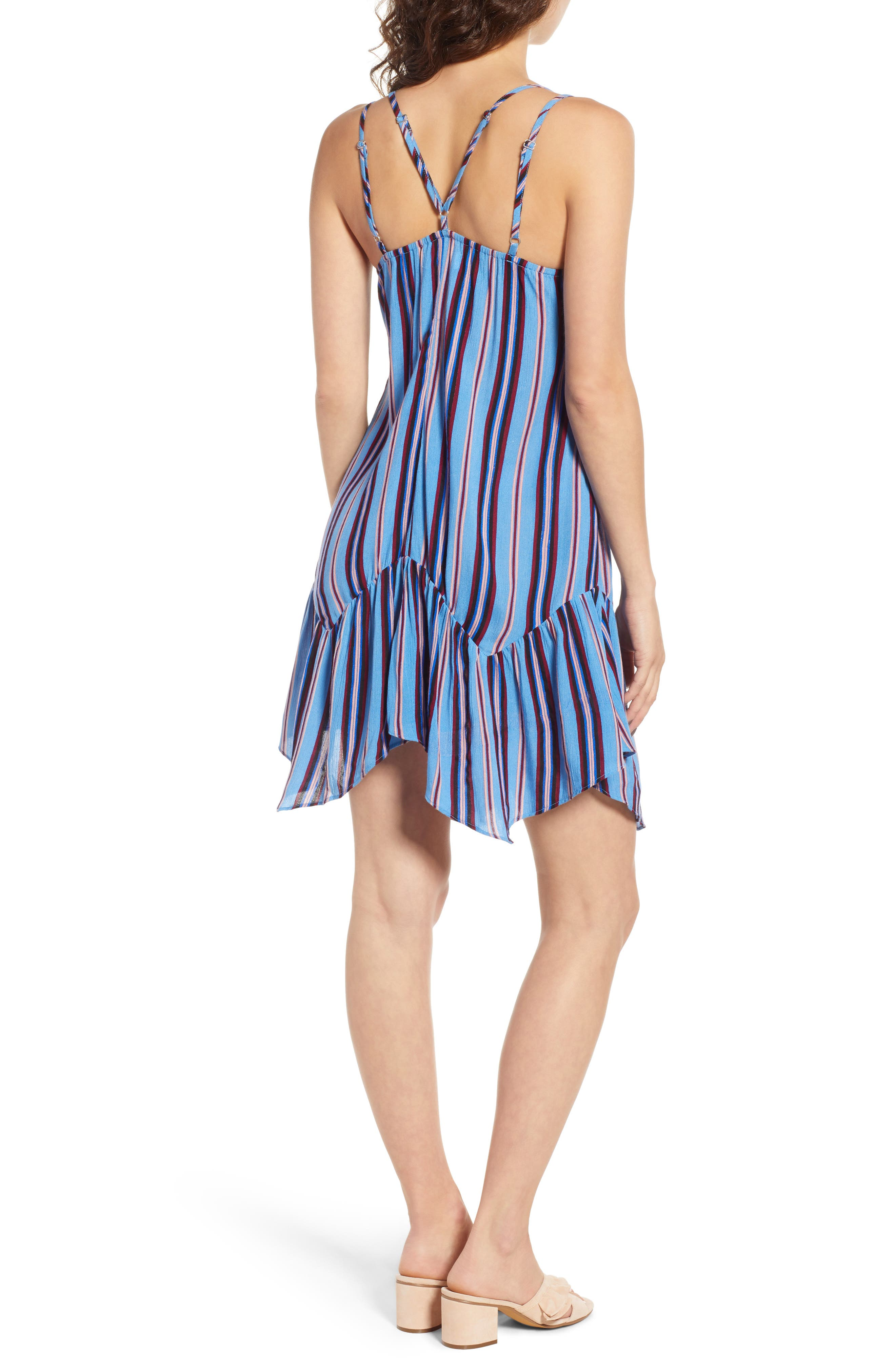 Selena Handkerchief Hem Slip Dress,                             Alternate thumbnail 2, color,                             500