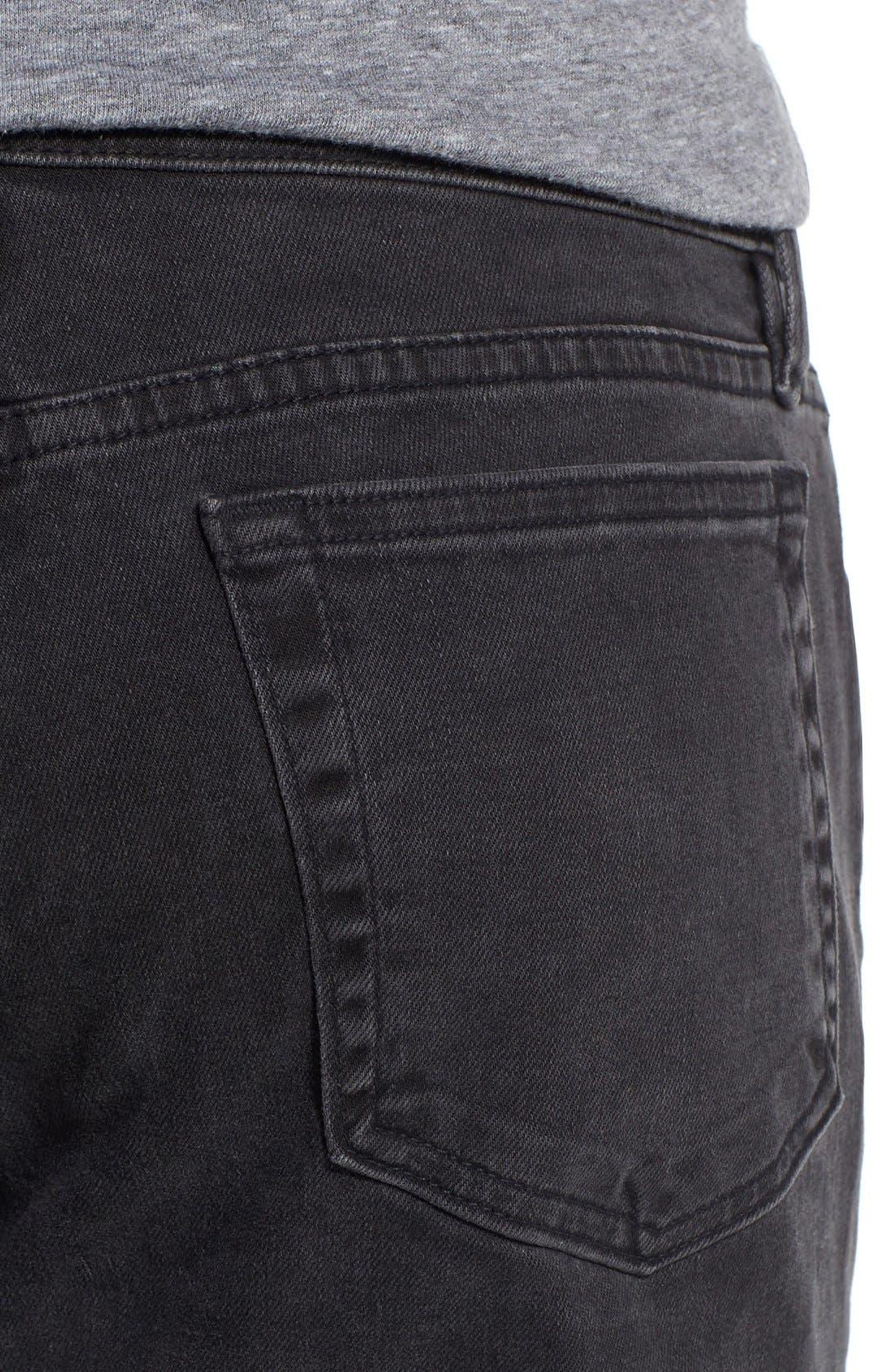 'L'Homme' Skinny Fit Jeans,                             Alternate thumbnail 4, color,                             FADE TO GREY