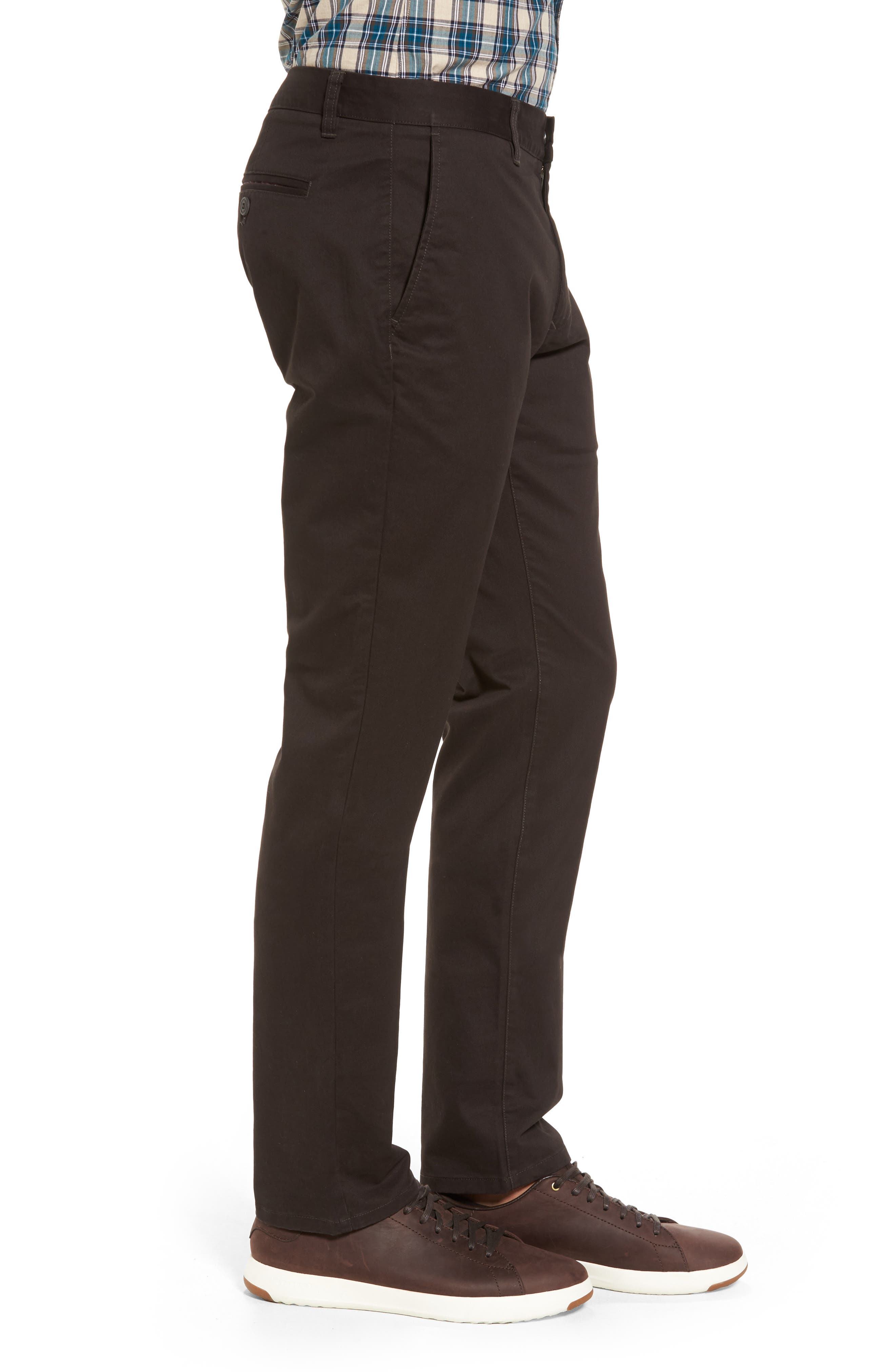 Tailored Fit Washed Stretch Cotton Chinos,                             Alternate thumbnail 73, color,