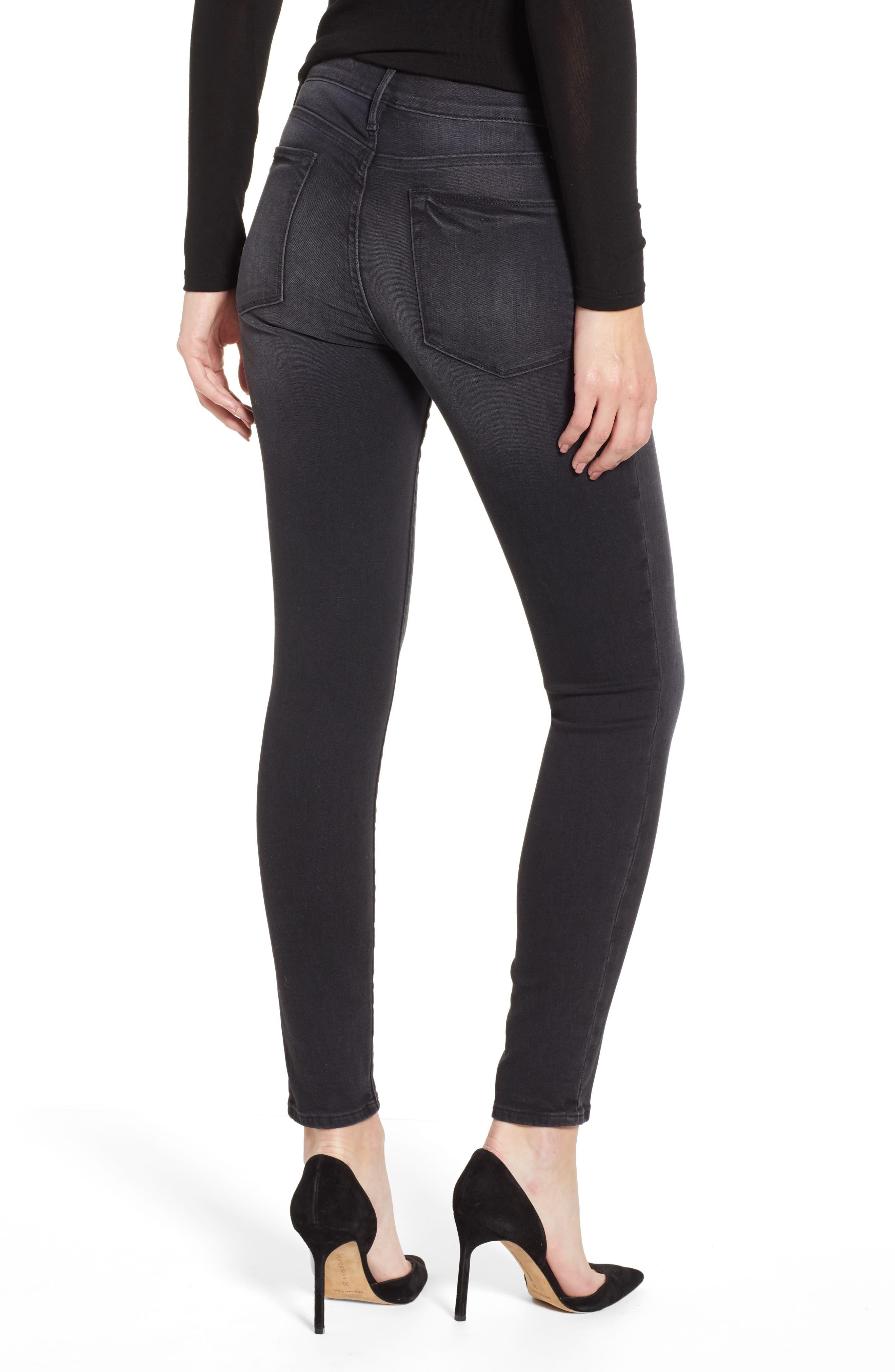 Le High Skinny Jeans,                             Alternate thumbnail 2, color,                             NIGHTFALL