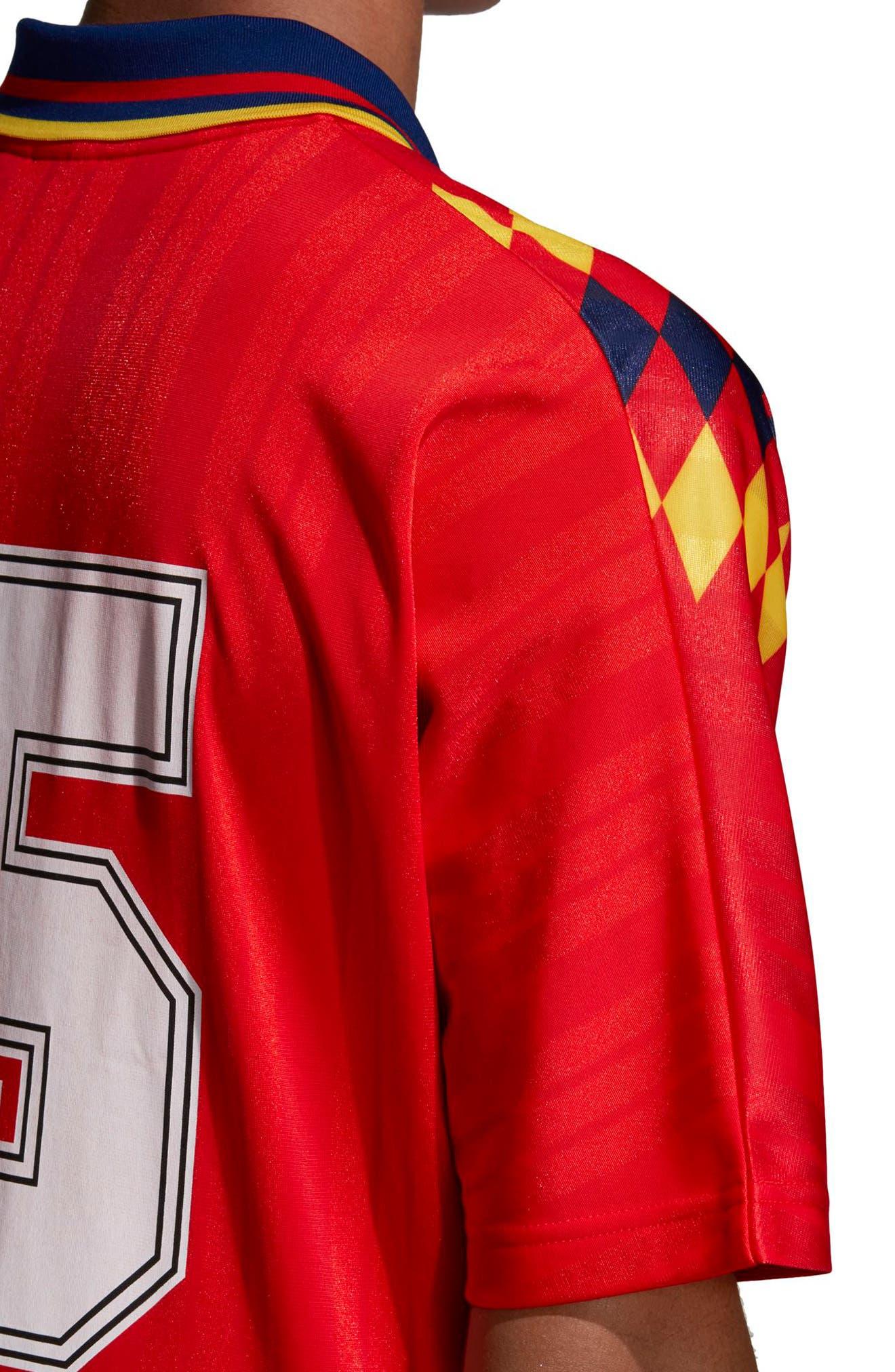 adidas Original Spain 1994 Soccer Jersey,                             Alternate thumbnail 4, color,                             625