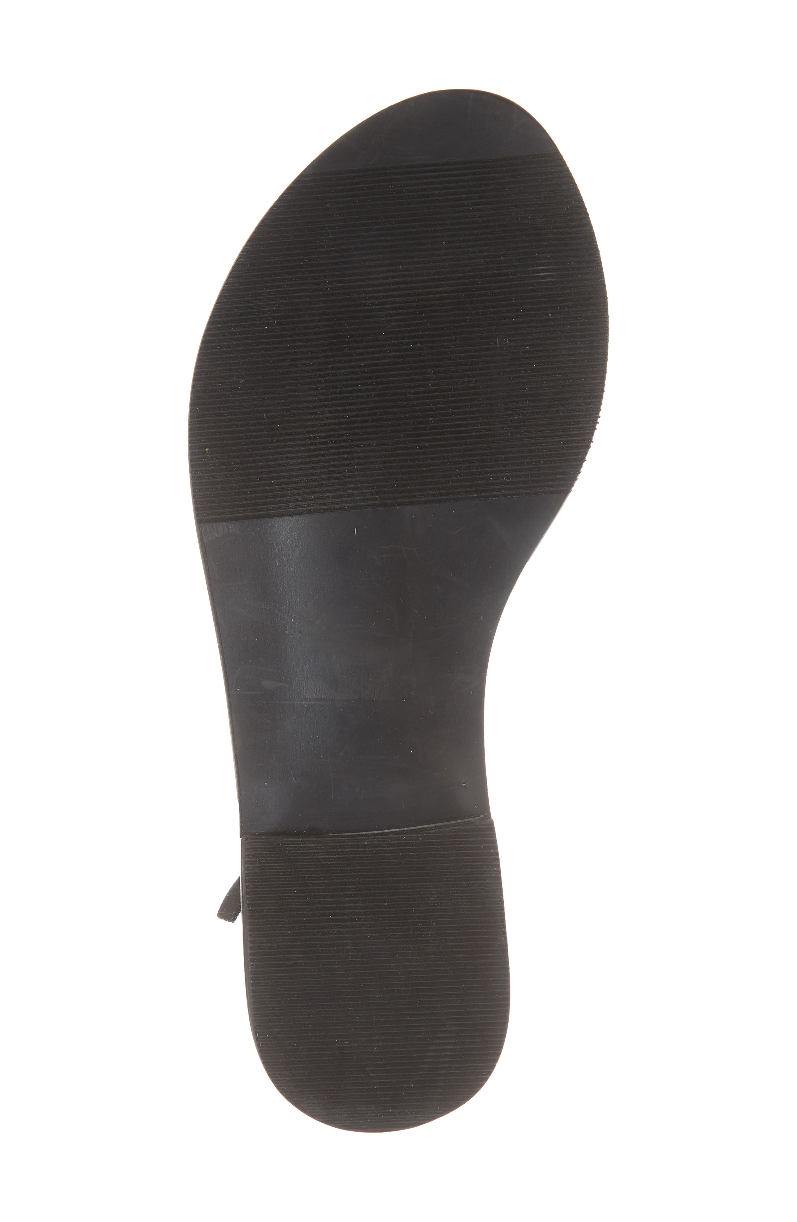 Amuse Society x Matisse Positano Sandal,                             Alternate thumbnail 6, color,                             BLACK LEATHER