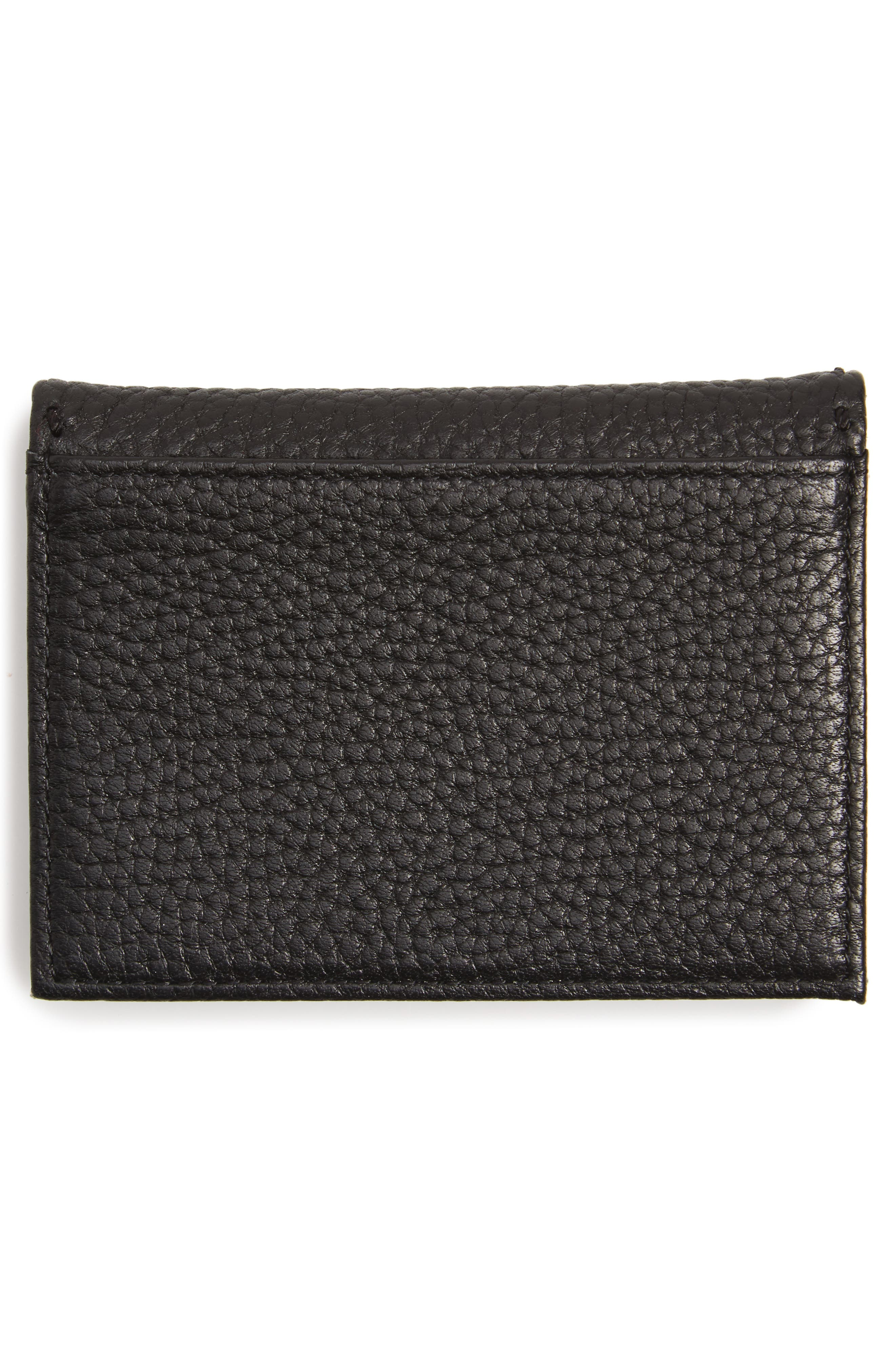 Hermina Leather Card Case,                             Alternate thumbnail 3, color,                             001