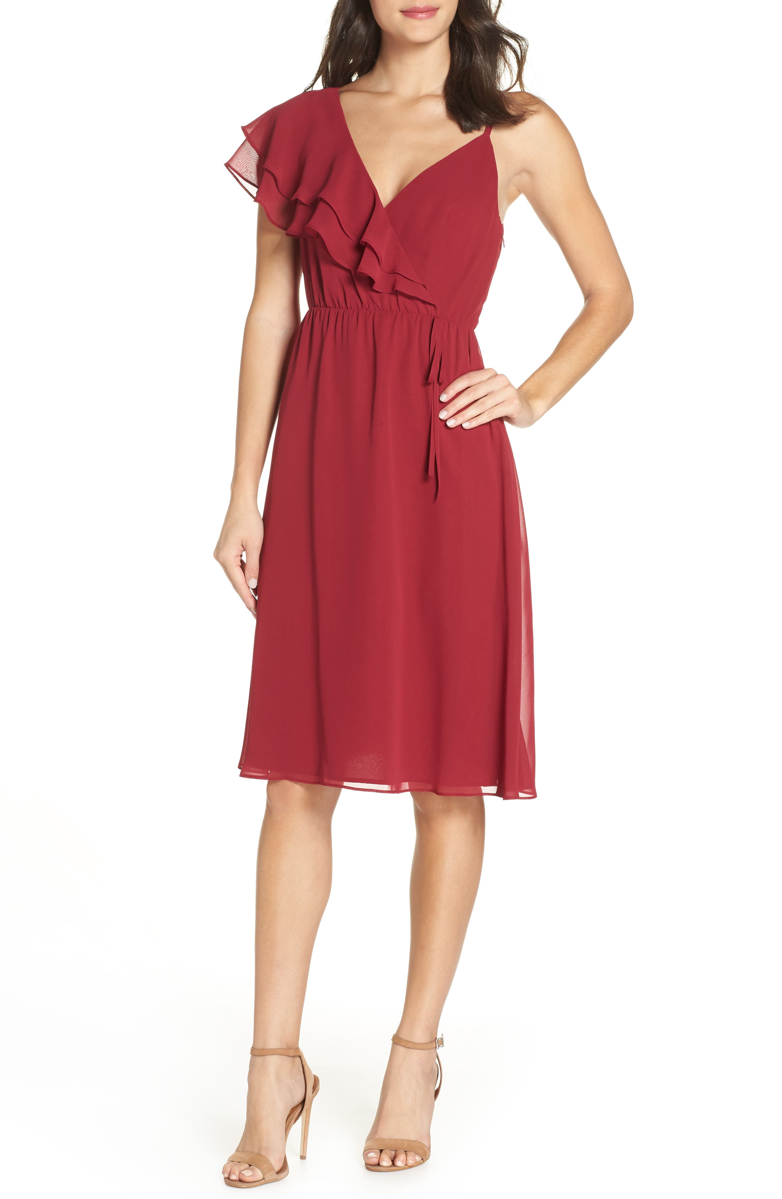 ALI & JAY Cloud 9 A-Line Dress in Cranberry