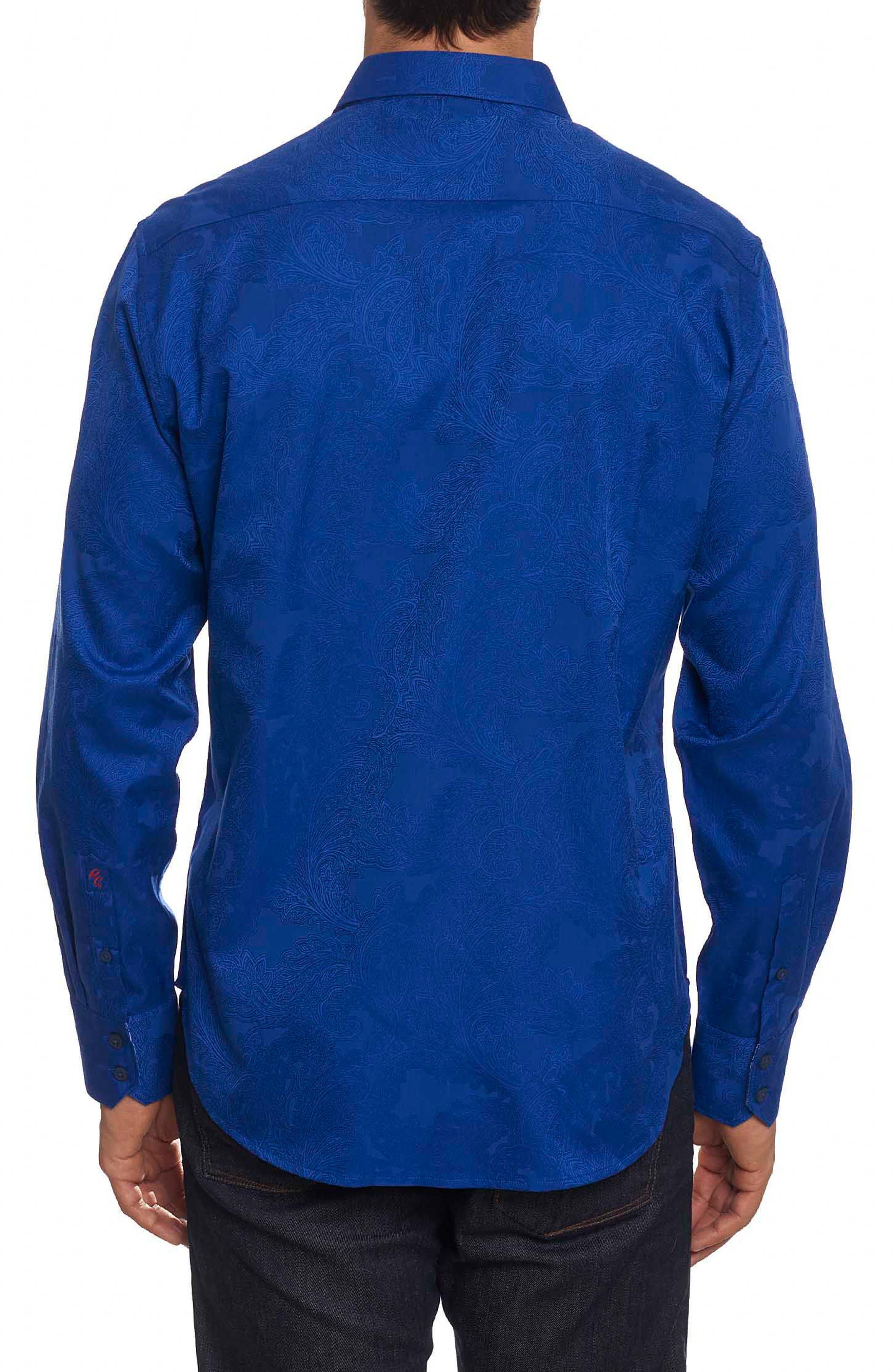 Rosendale Classic Fit Jacquard Sport Shirt,                             Alternate thumbnail 2, color,                             432
