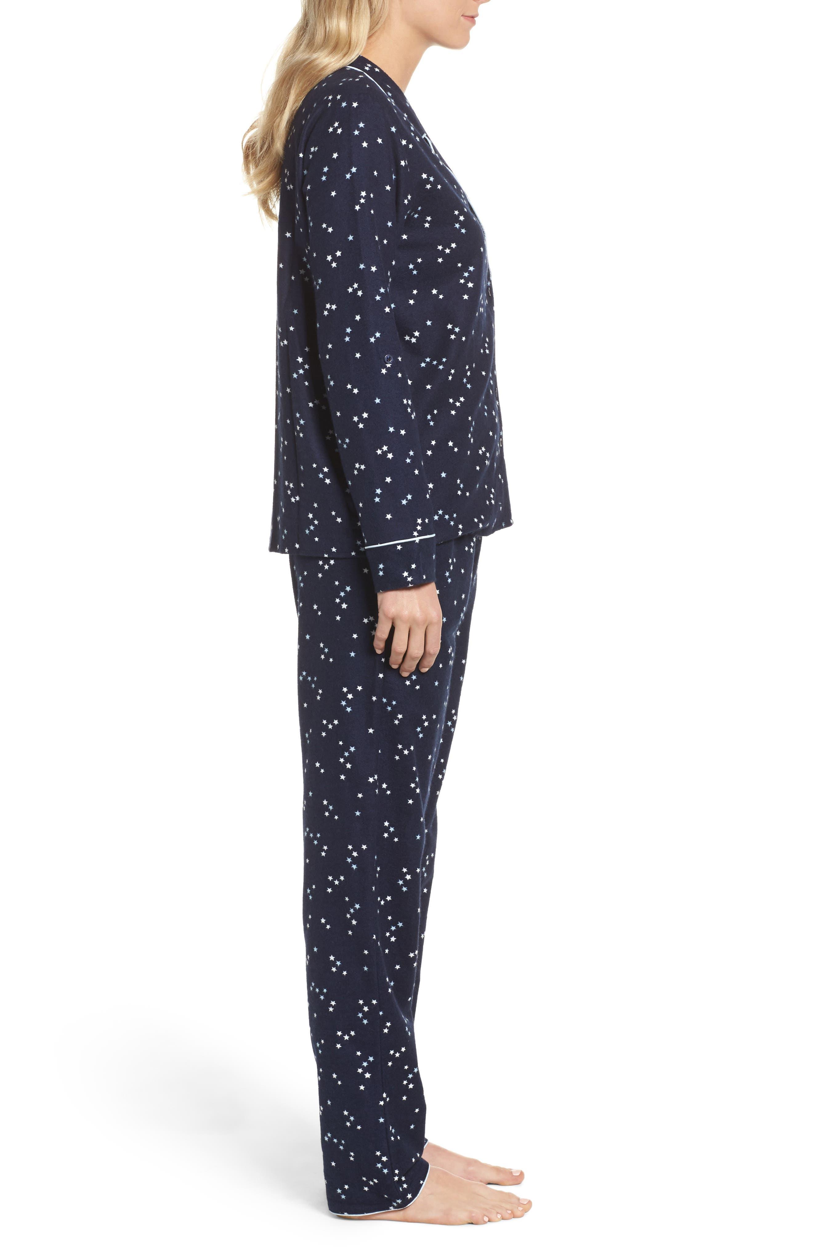 Lingerie Starlight Flannel Pajamas,                             Alternate thumbnail 13, color,